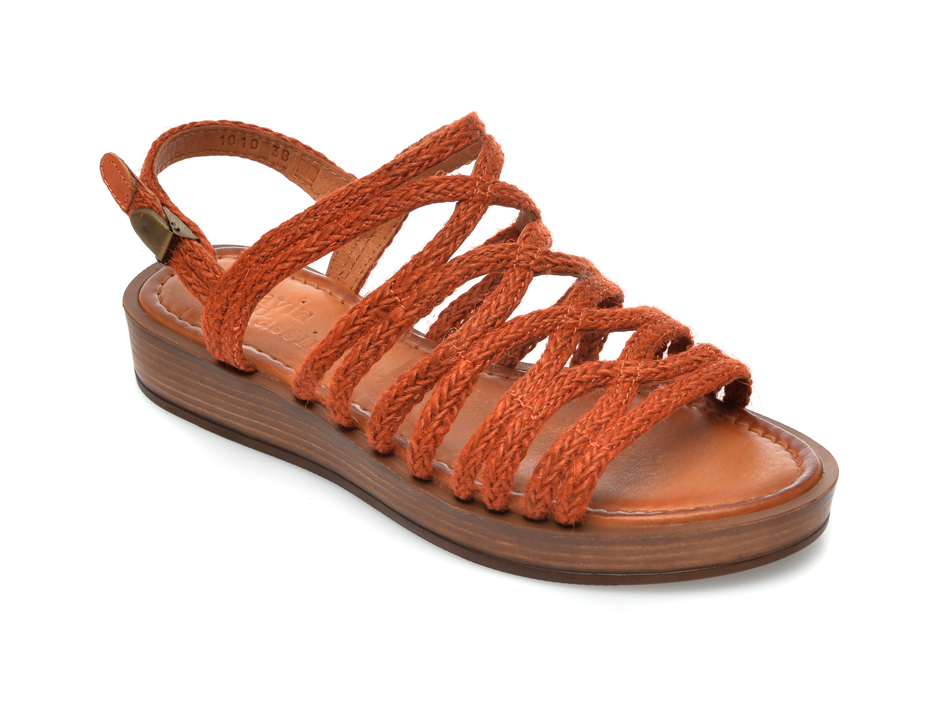 Sandale FLAVIA PASSINI portocalii, M1, din material textil New