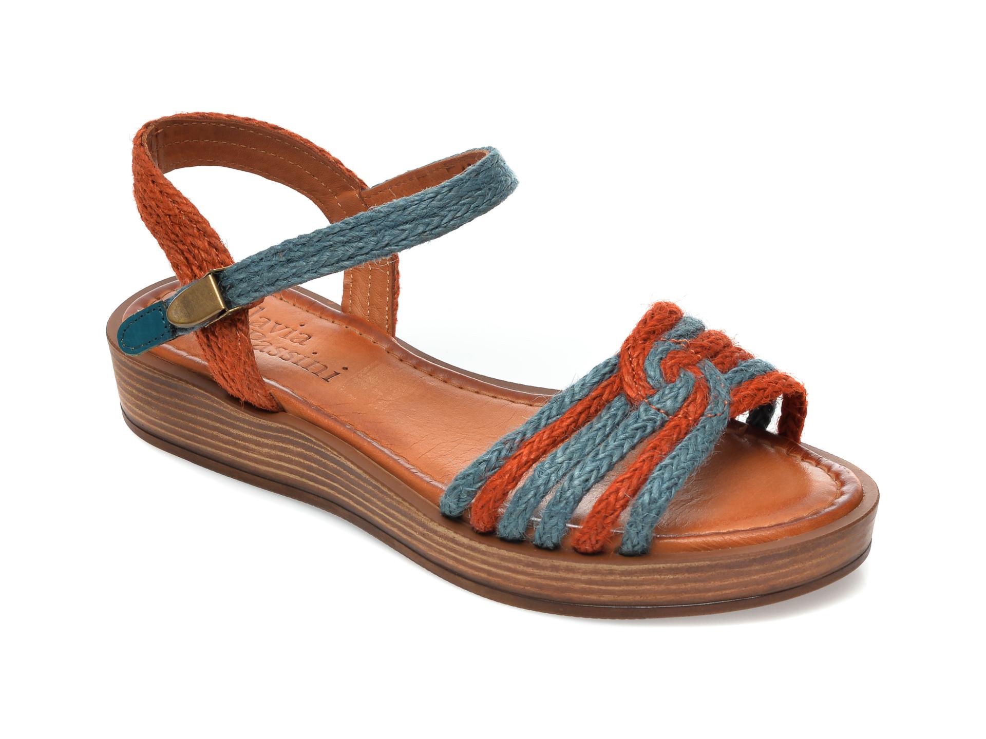 Sandale FLAVIA PASSINI portocalii, M2, din material textil imagine otter.ro 2021