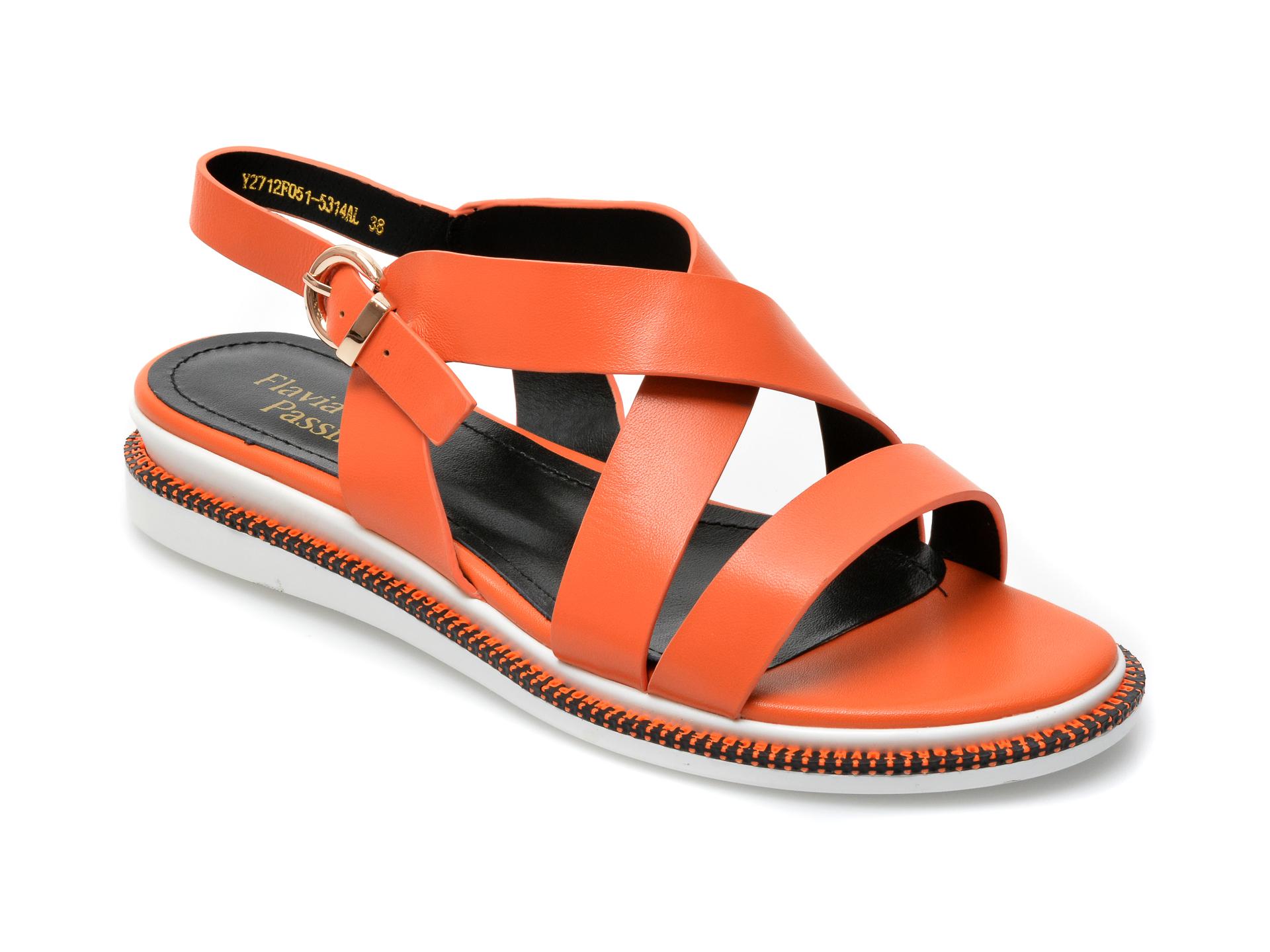 Sandale FLAVIA PASSINI portocalii, Y2712F0, din piele naturala imagine otter.ro 2021