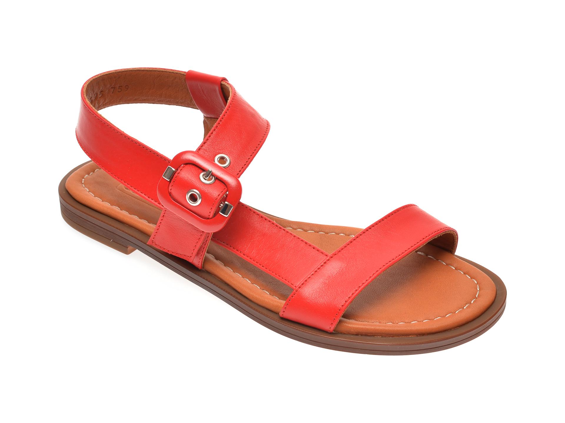 Sandale FLAVIA PASSINI rosii, 0021695, din piele naturala
