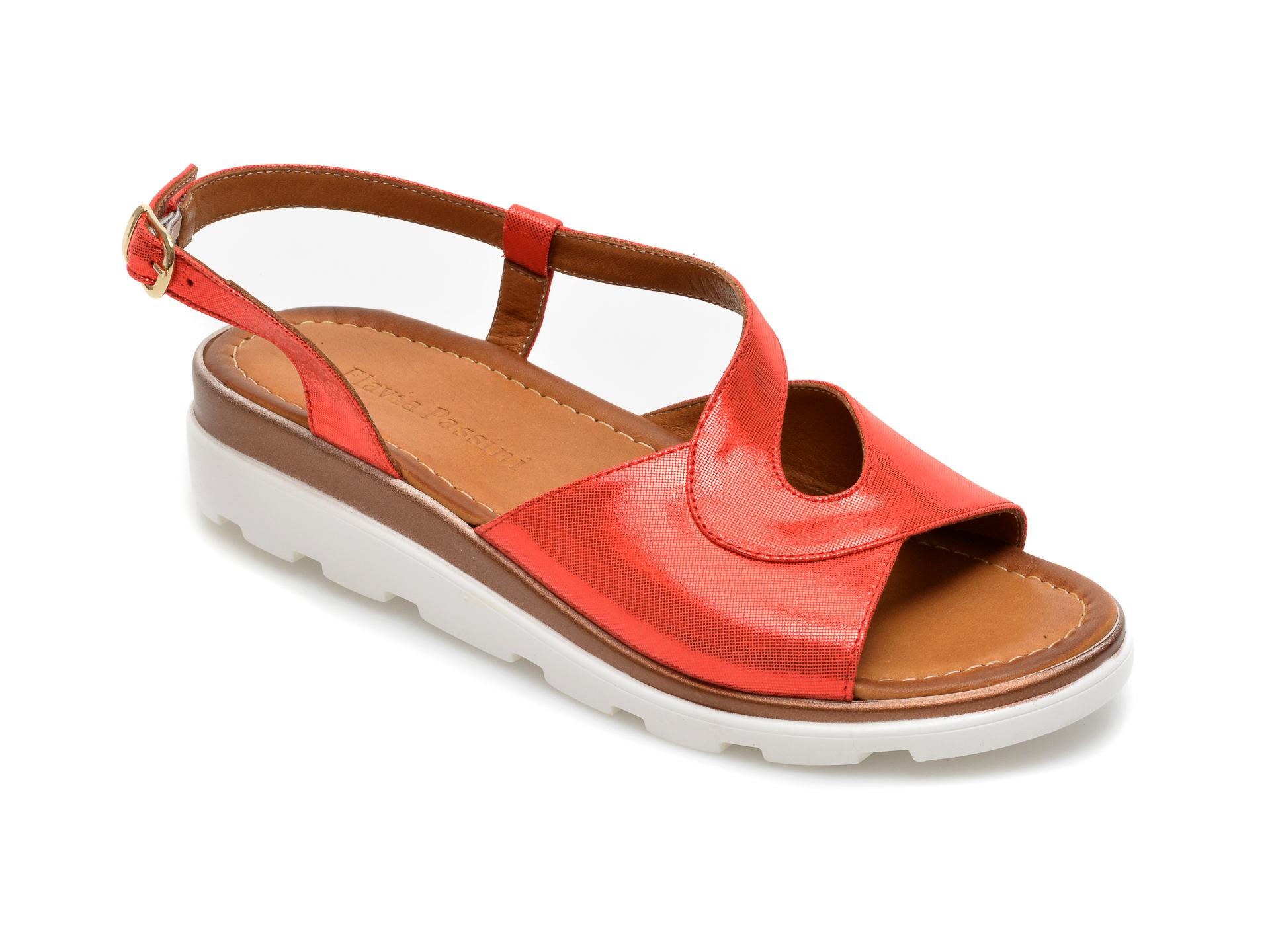 Sandale FLAVIA PASSINI rosii, 2049, din piele naturala imagine otter.ro 2021