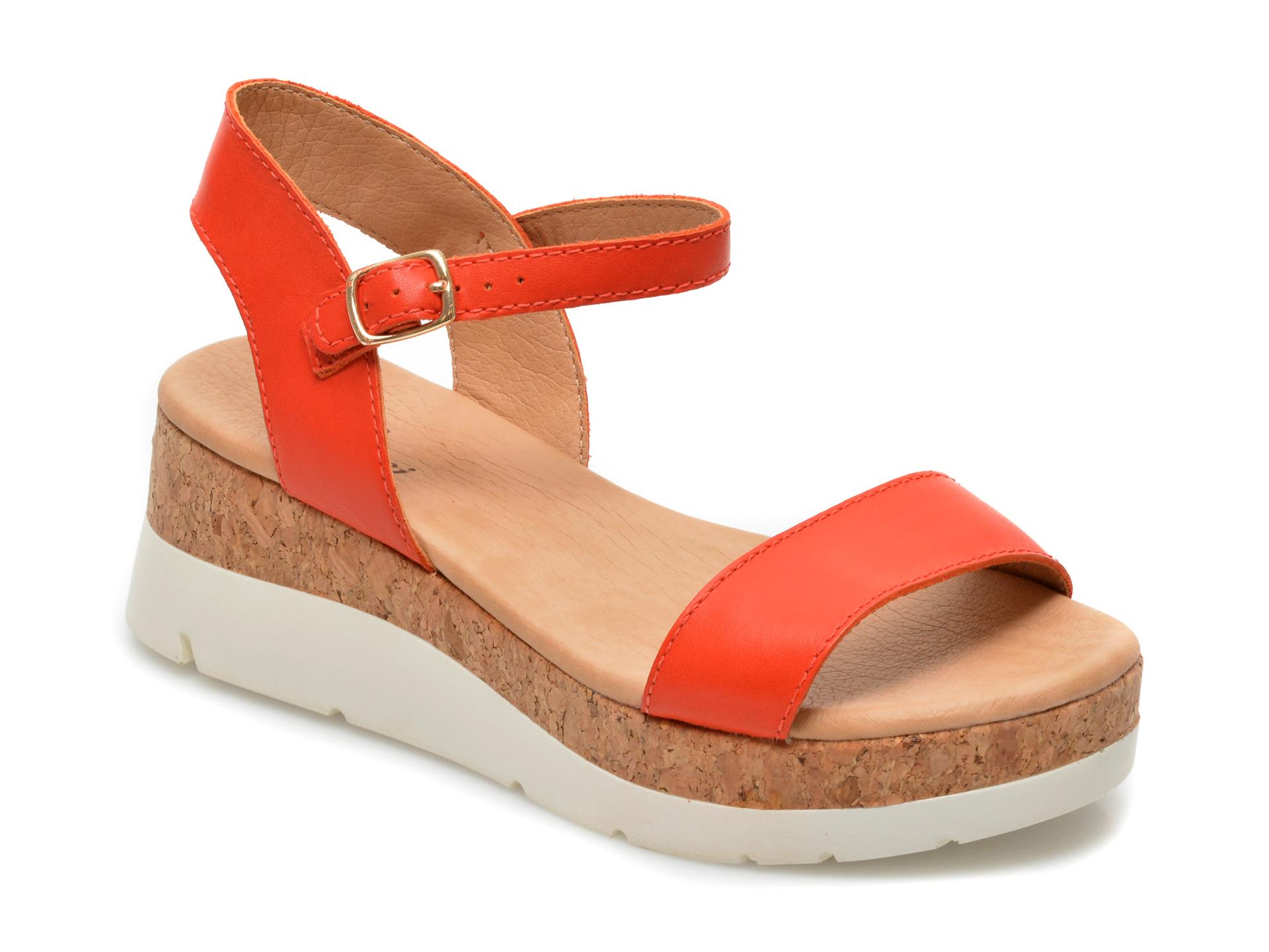 Sandale FLAVIA PASSINI rosii, 323701, din piele naturala imagine otter.ro