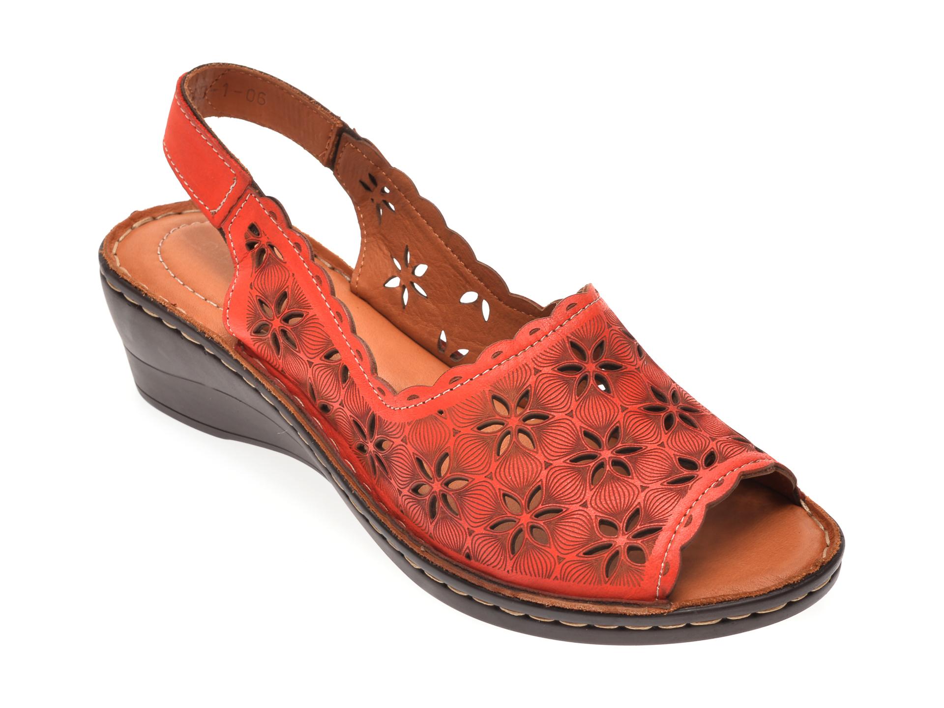 Sandale FLAVIA PASSINI rosii, 50431, din piele naturala