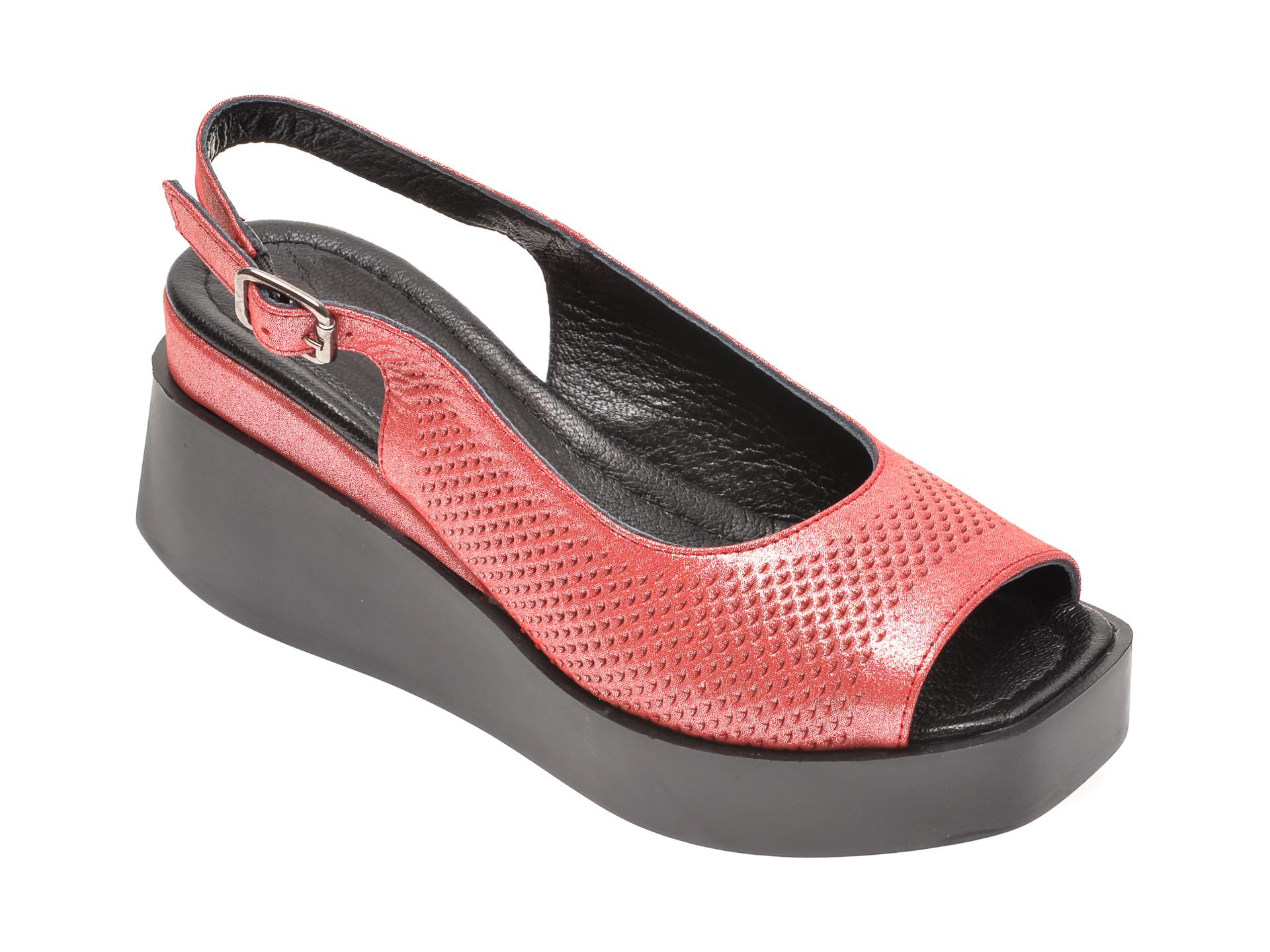 Sandale FLAVIA PASSINI rosii, 604, din piele naturala
