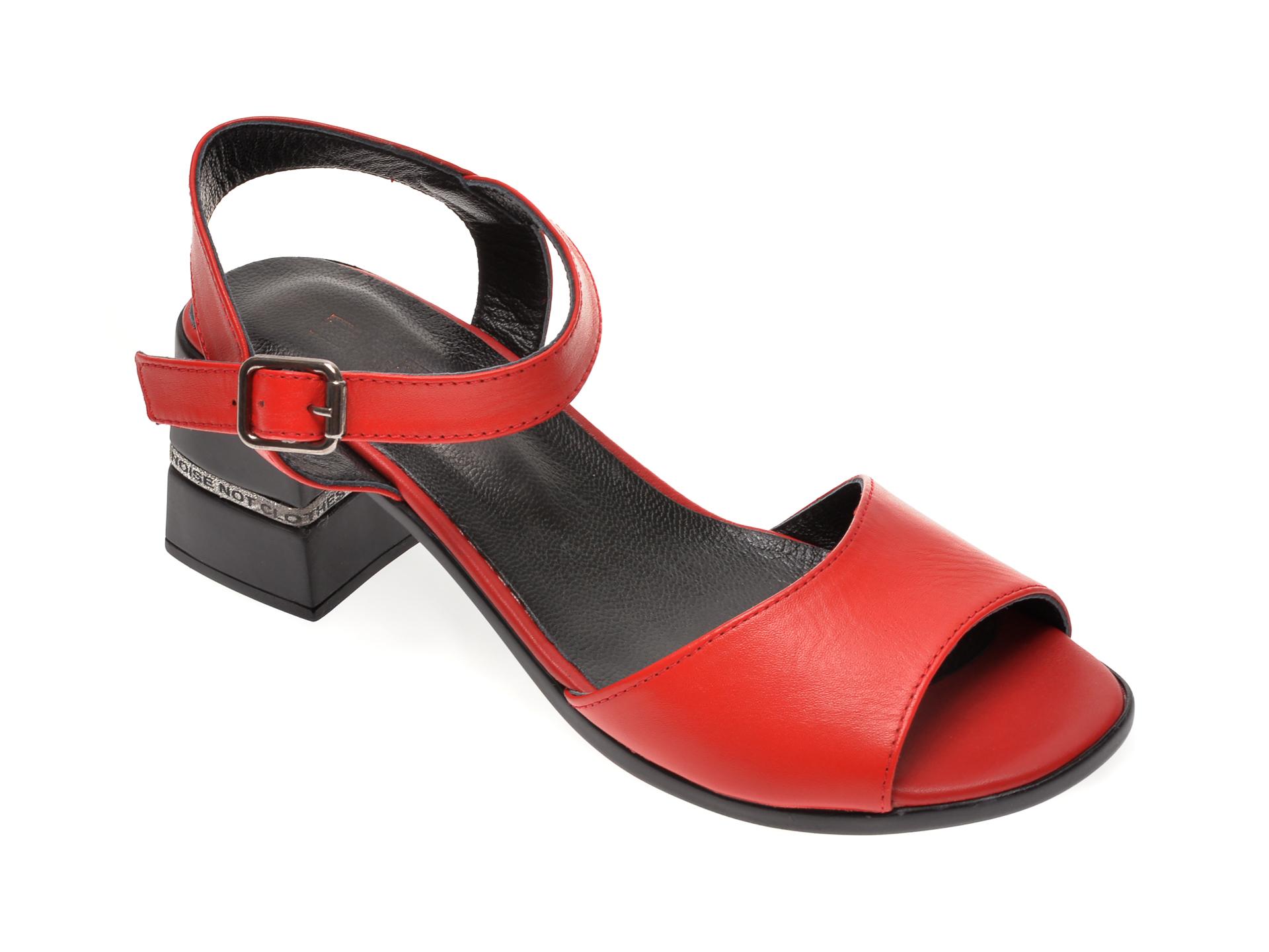 Sandale FLAVIA PASSINI rosii, 644, din piele naturala