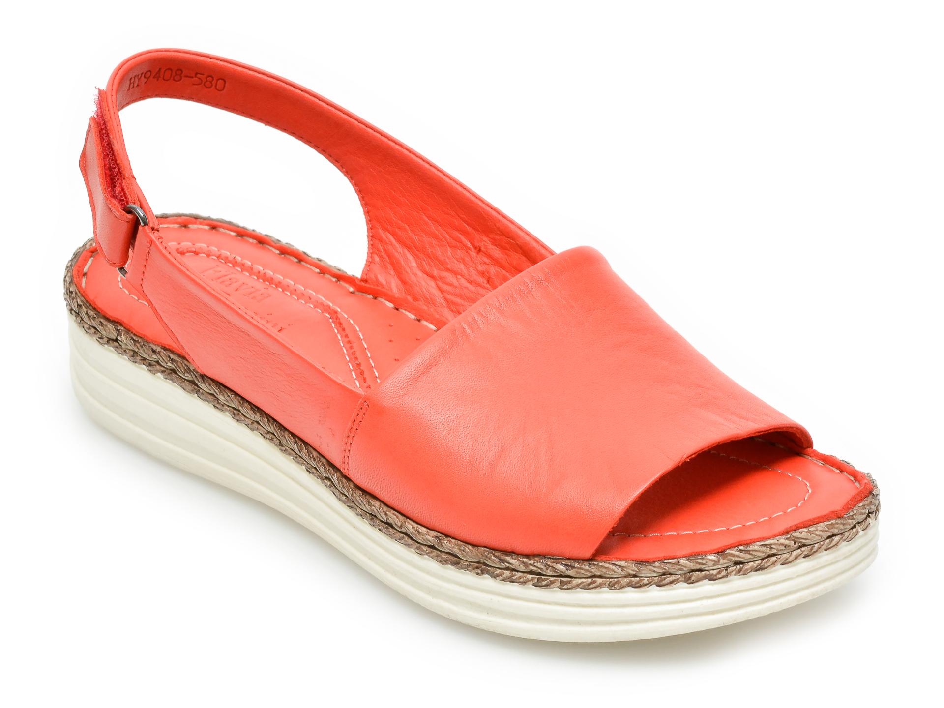 Sandale FLAVIA PASSINI rosii, 9408580, din piele naturala imagine otter.ro 2021