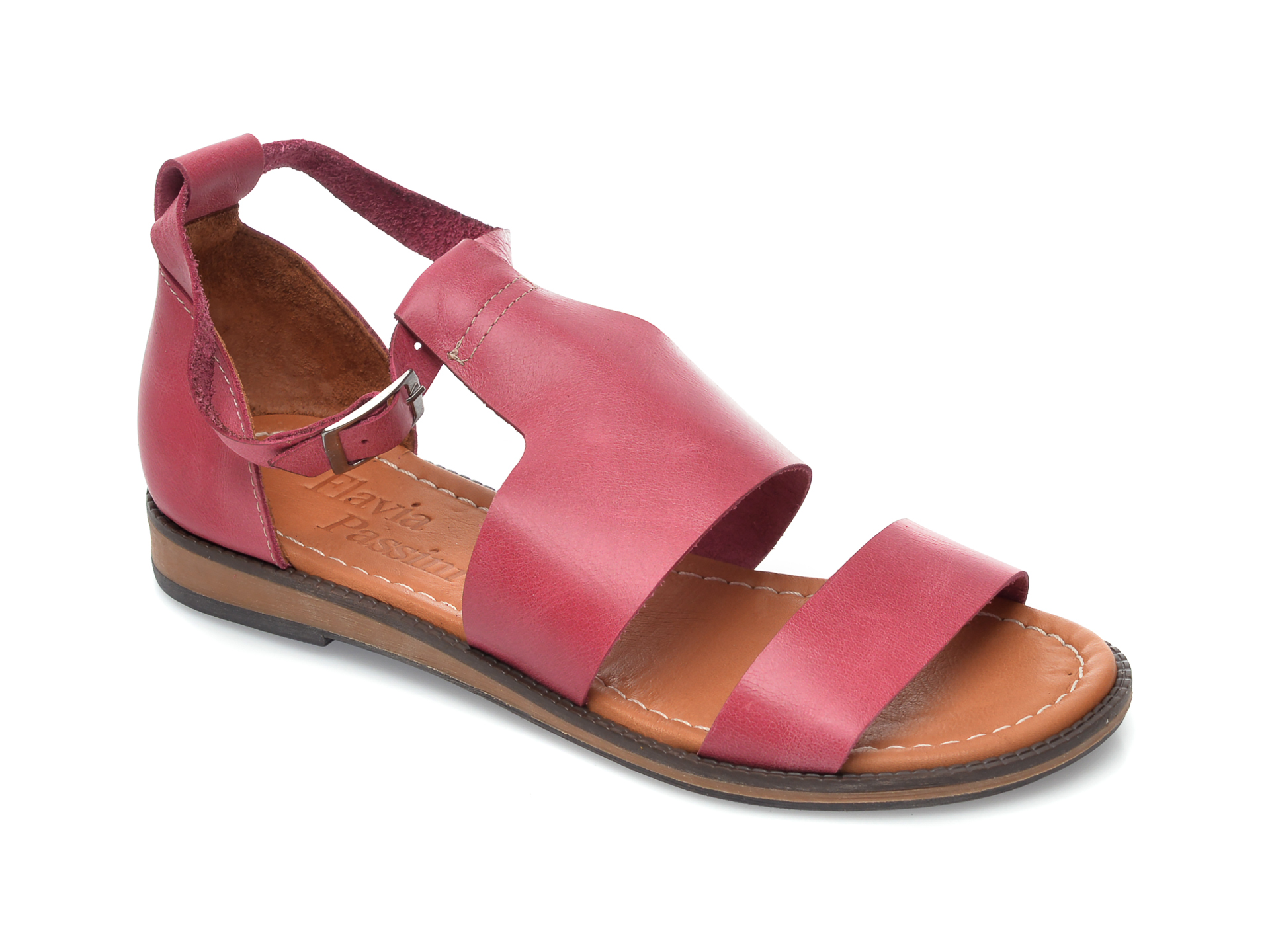 Sandale FLAVIA PASSINI roz, 1004, din piele naturala imagine otter.ro 2021
