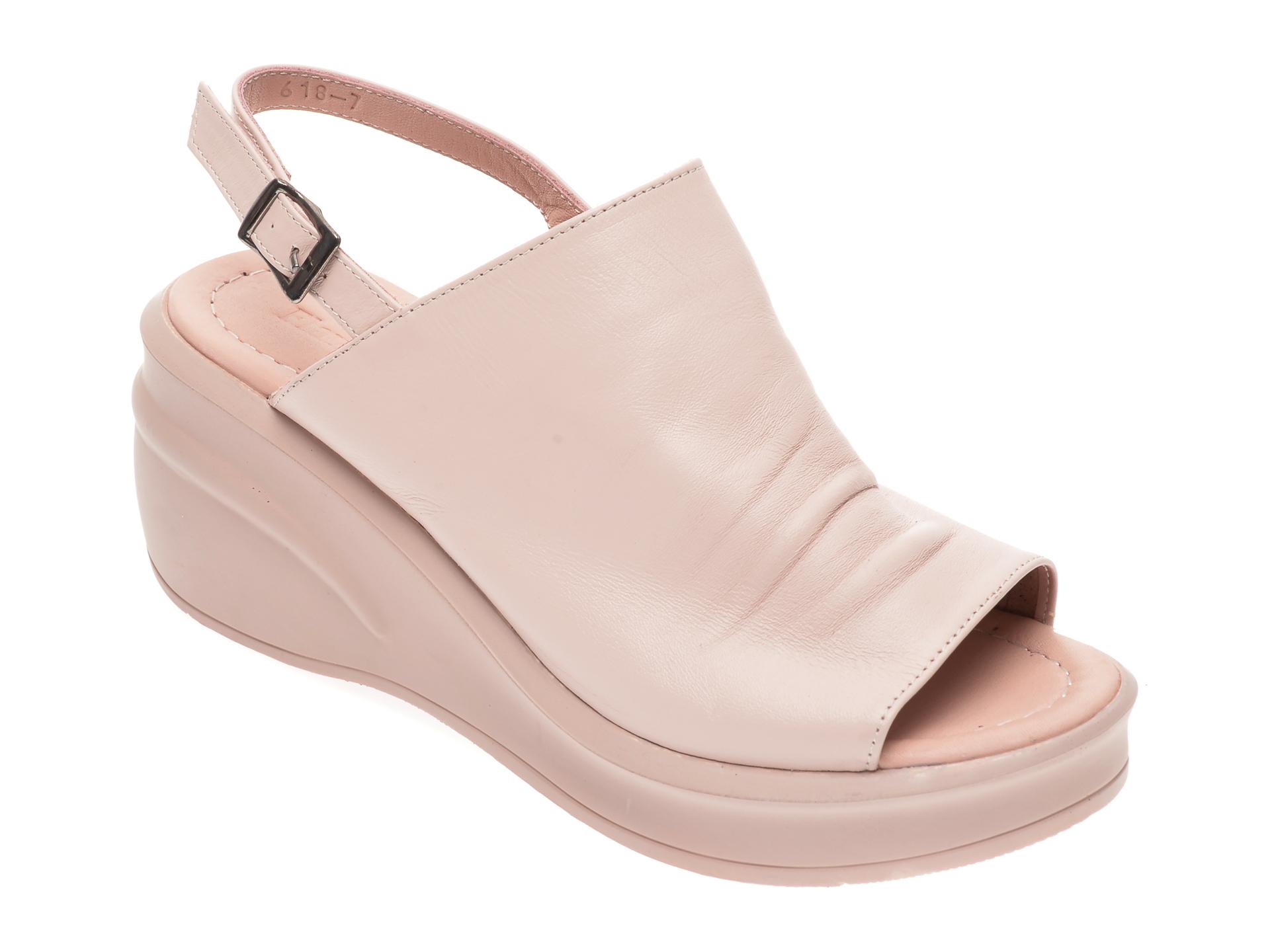 Sandale FLAVIA PASSINI roz, 123618, din piele naturala