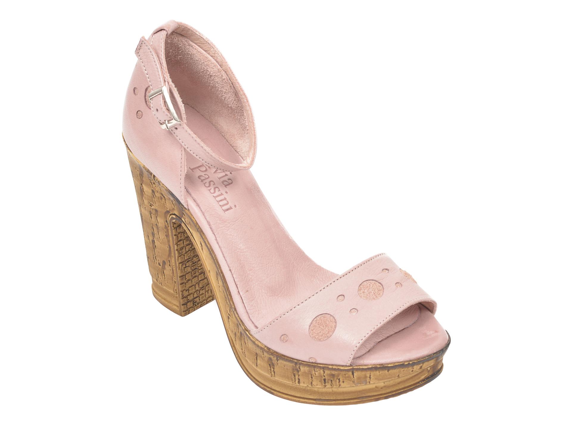 Sandale FLAVIA PASSINI roz, 2605, din piele naturala imagine