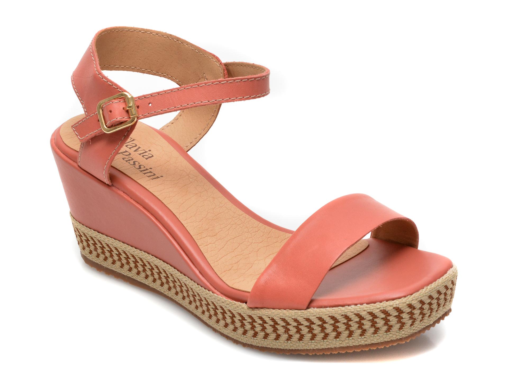 Sandale FLAVIA PASSINI roz, 322003, din piele naturala imagine otter.ro