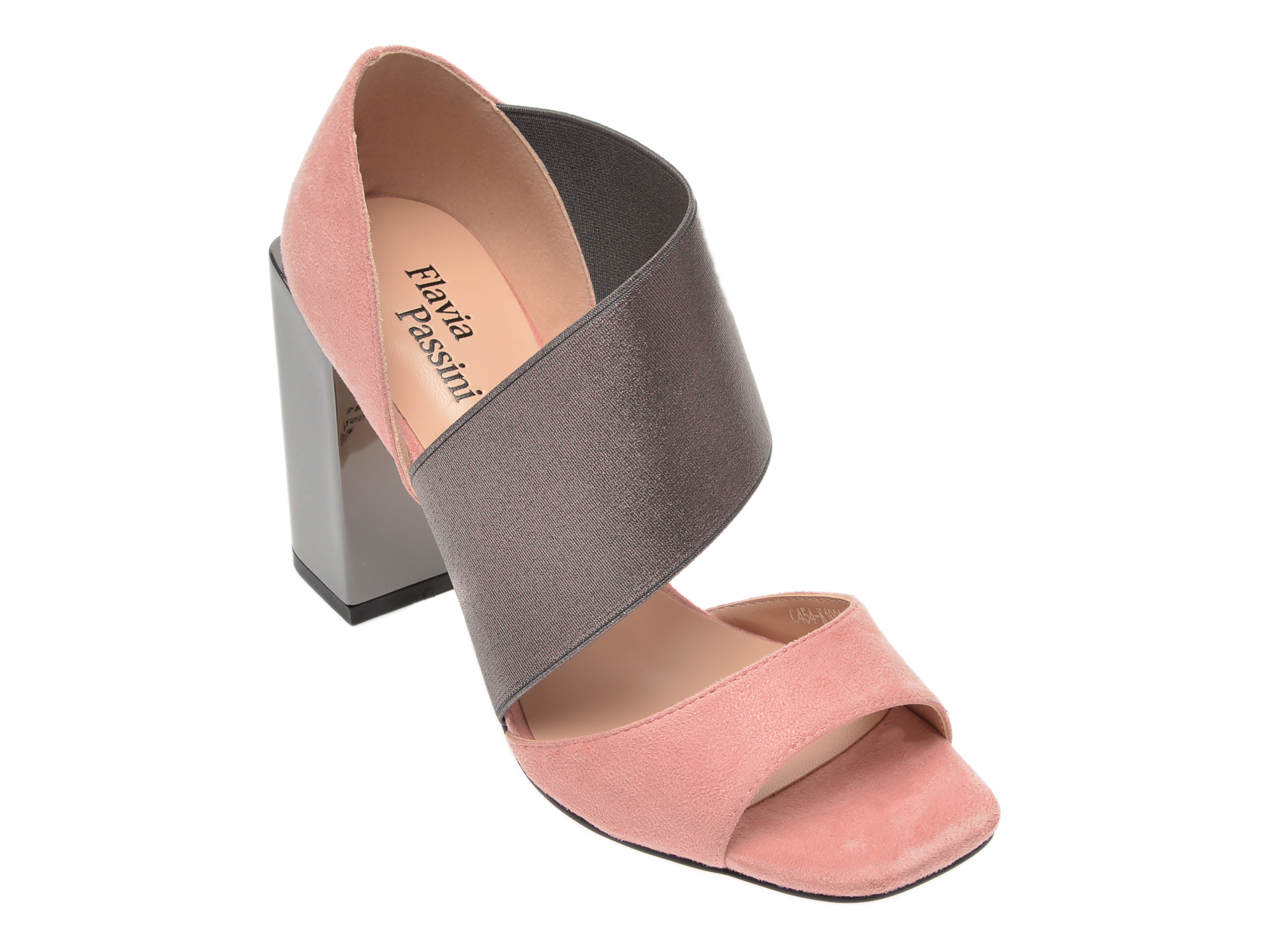 Sandale FLAVIA PASSINI roz, C454K10, din piele ecologica si material textil imagine