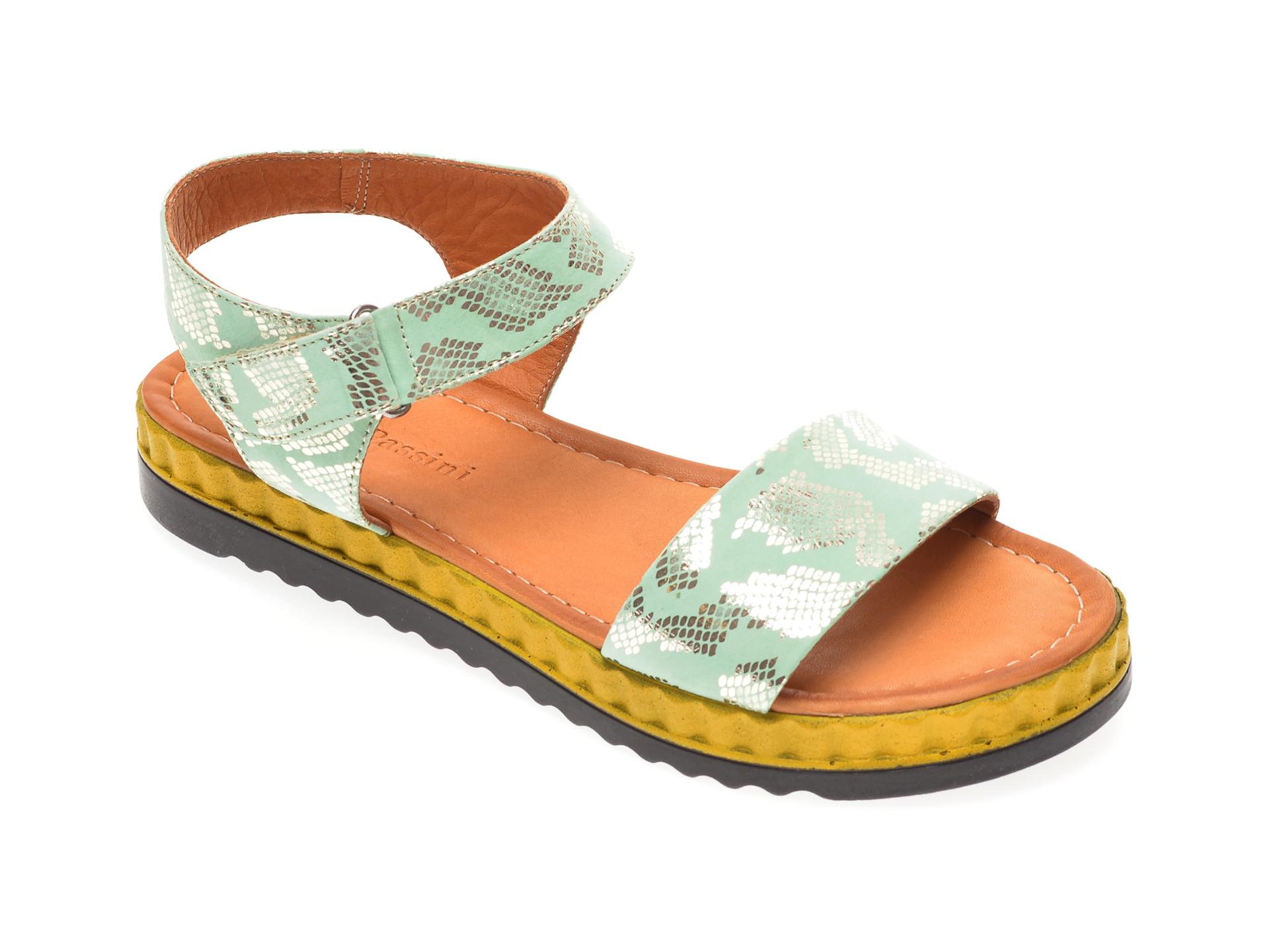 Sandale FLAVIA PASSINI verzi, 1182116, din piele naturala