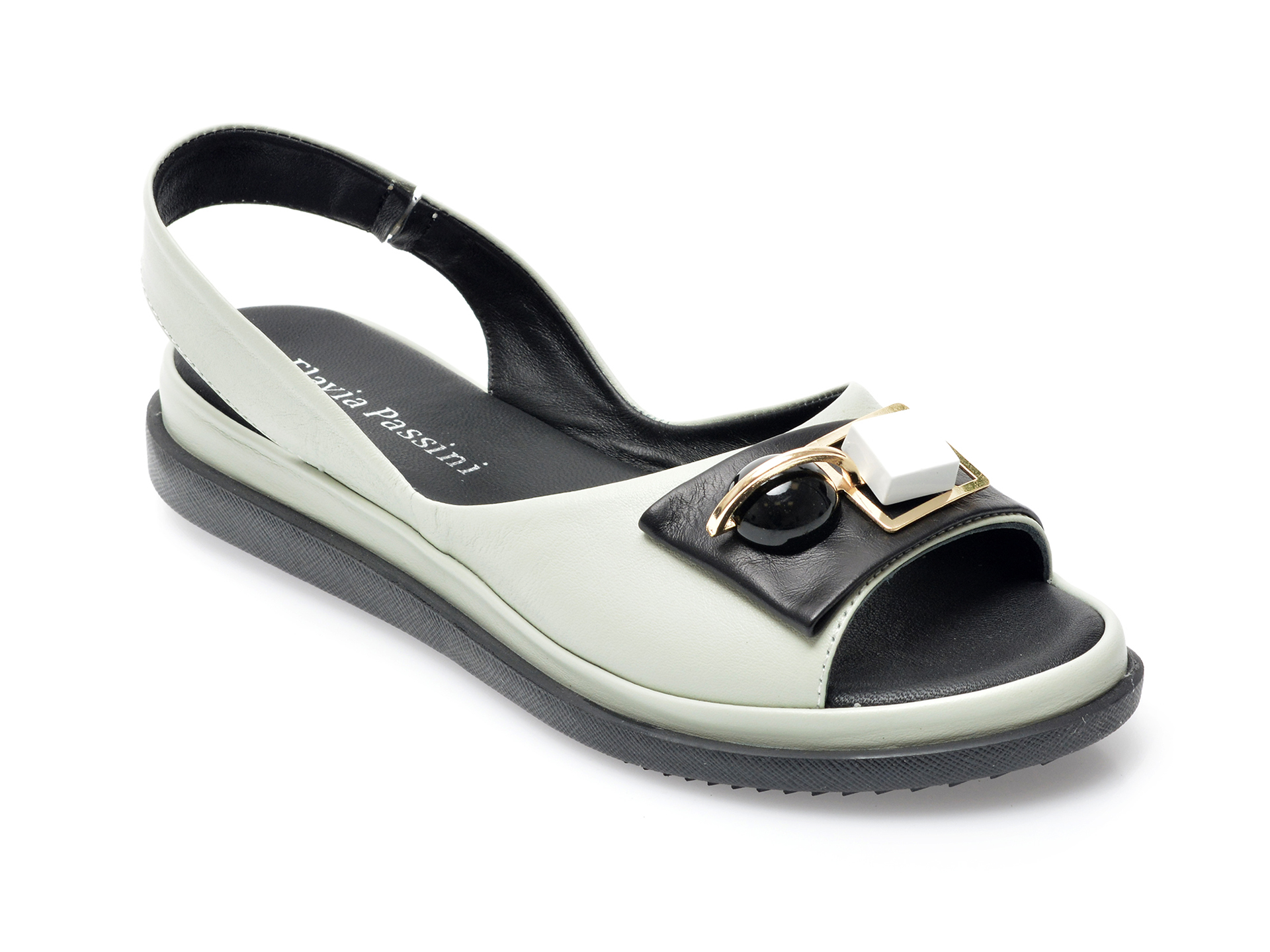 Sandale FLAVIA PASSINI verzi, 207217, din piele naturala imagine otter.ro 2021