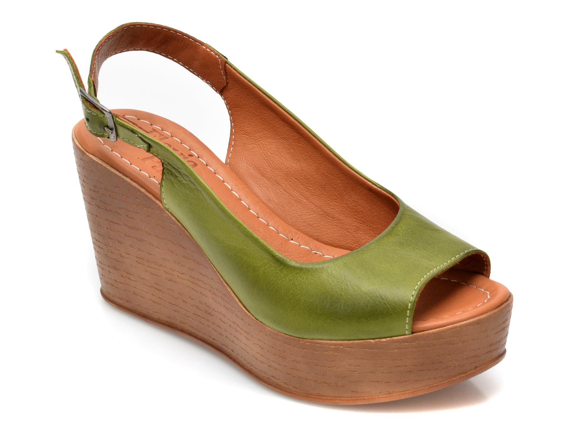 Sandale FLAVIA PASSINI verzi, 20801, din piele naturala imagine otter.ro