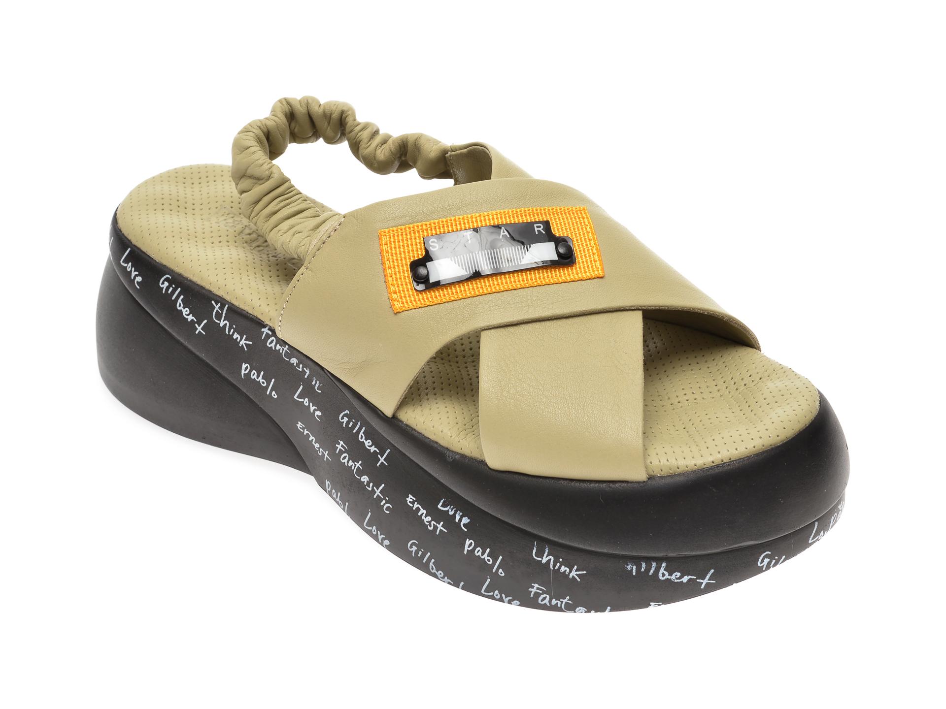 Sandale FLAVIA PASSINI verzi, 4261931, din piele naturala