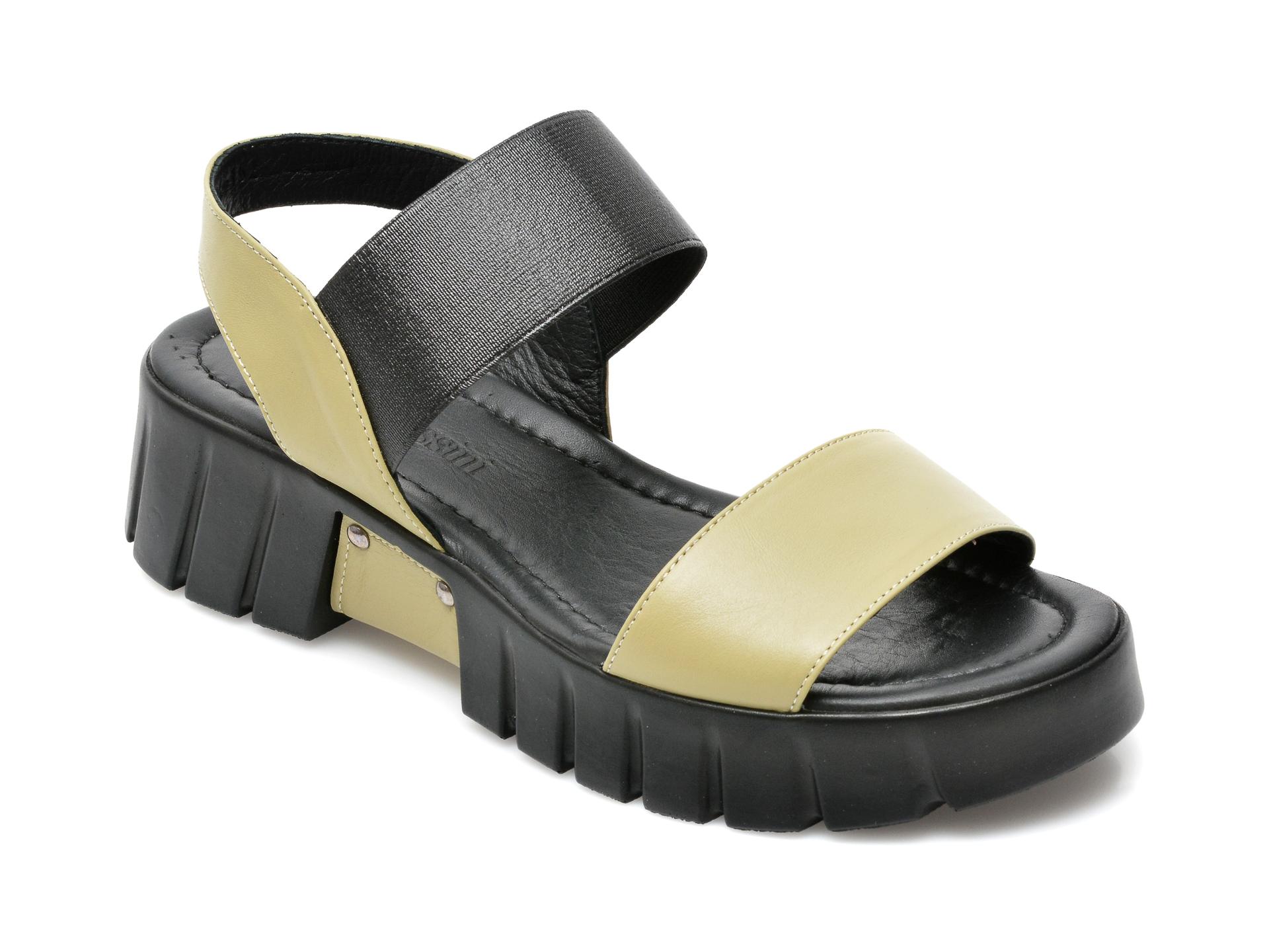 Sandale FLAVIA PASSINI verzi, 591152, din material textil si piele naturala imagine otter.ro 2021