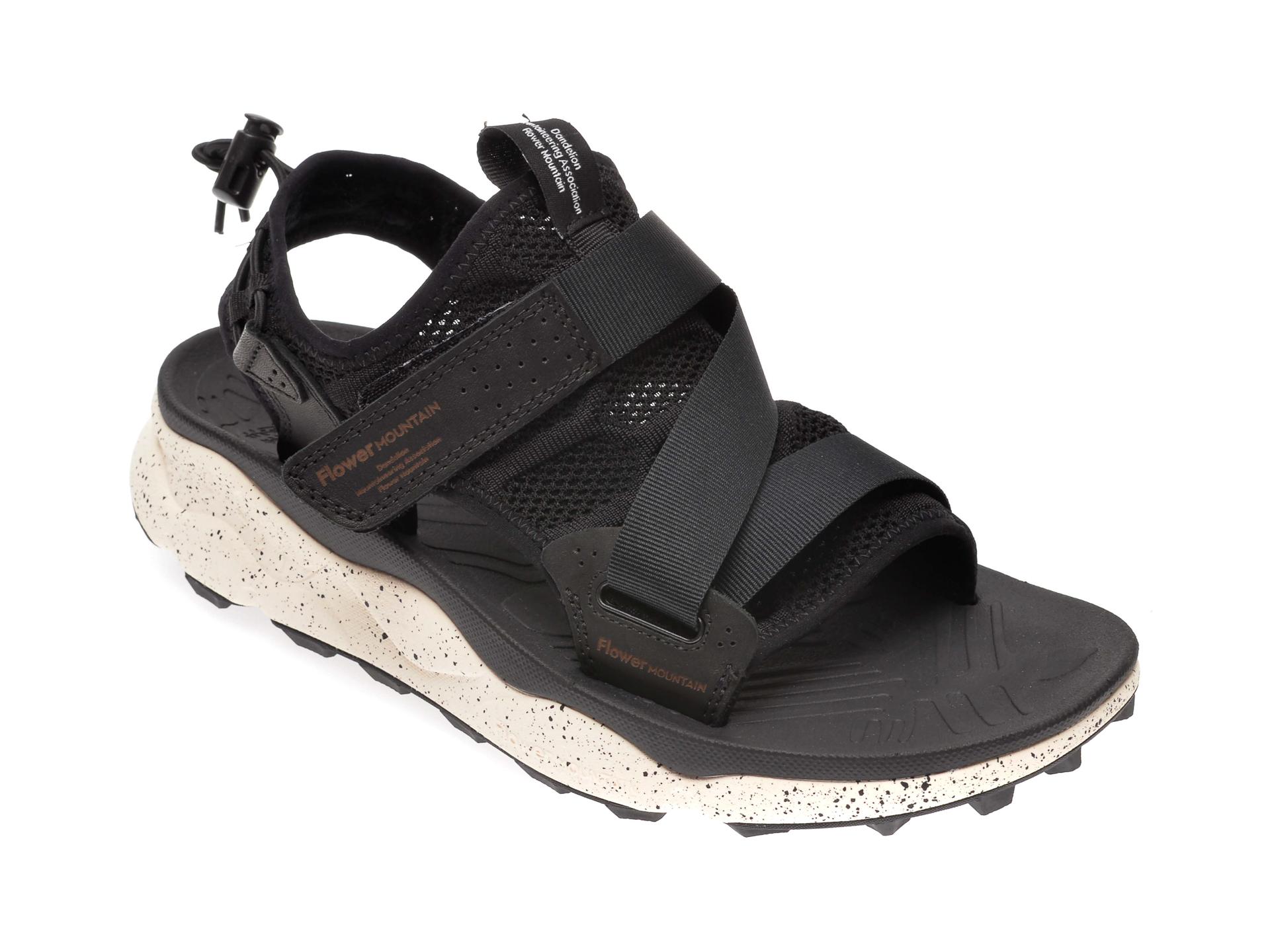Sandale FLOWER MOUNTAIN negre, 502696, din material textil imagine