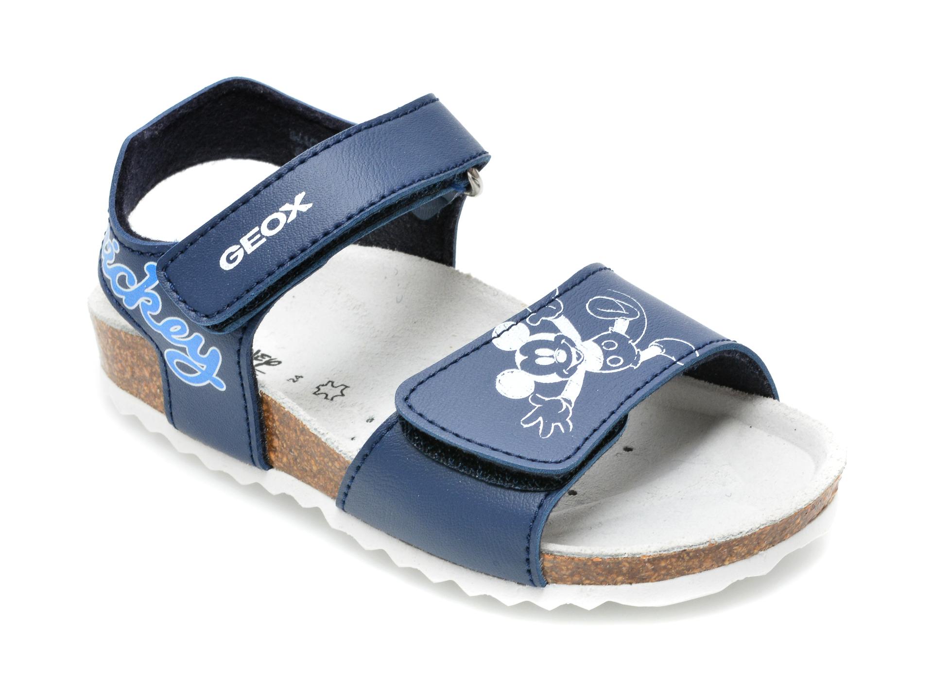 Sandale GEOX albastre, B152QC, din piele ecologica