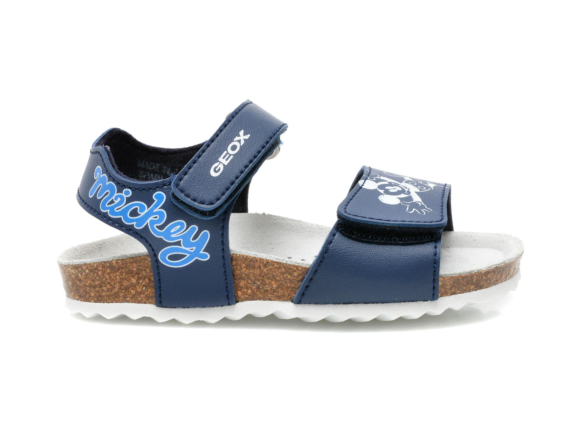 Sandale GEOX albastre, B152QC, din piele ecologica - 1