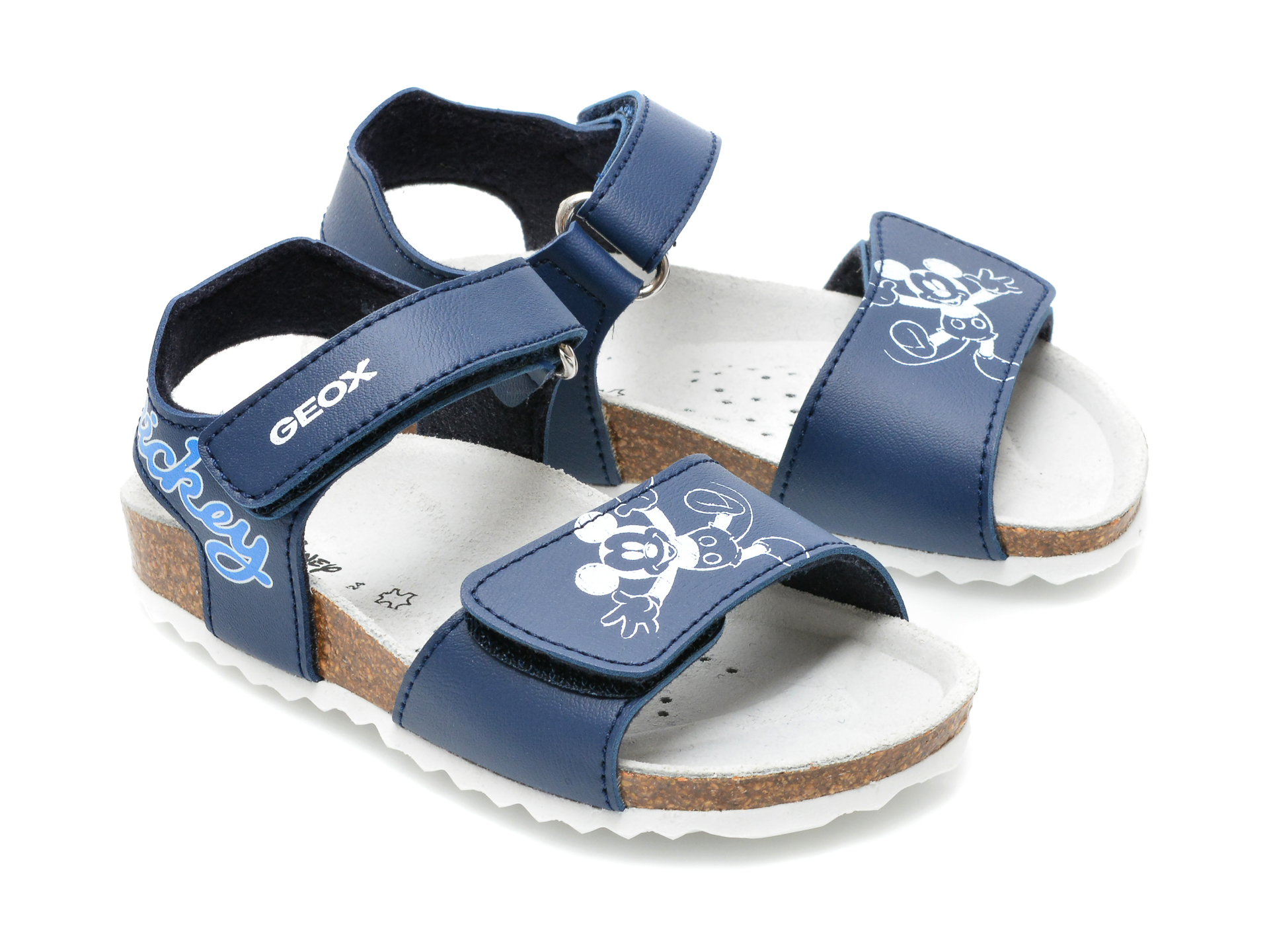 Sandale GEOX albastre, B152QC, din piele ecologica - 4