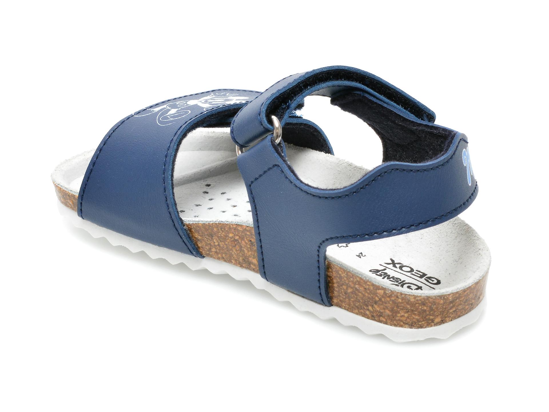 Sandale GEOX albastre, B152QC, din piele ecologica - 5