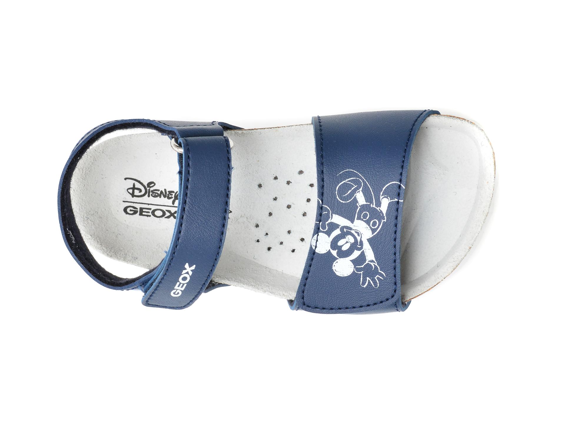 Sandale GEOX albastre, B152QC, din piele ecologica - 6