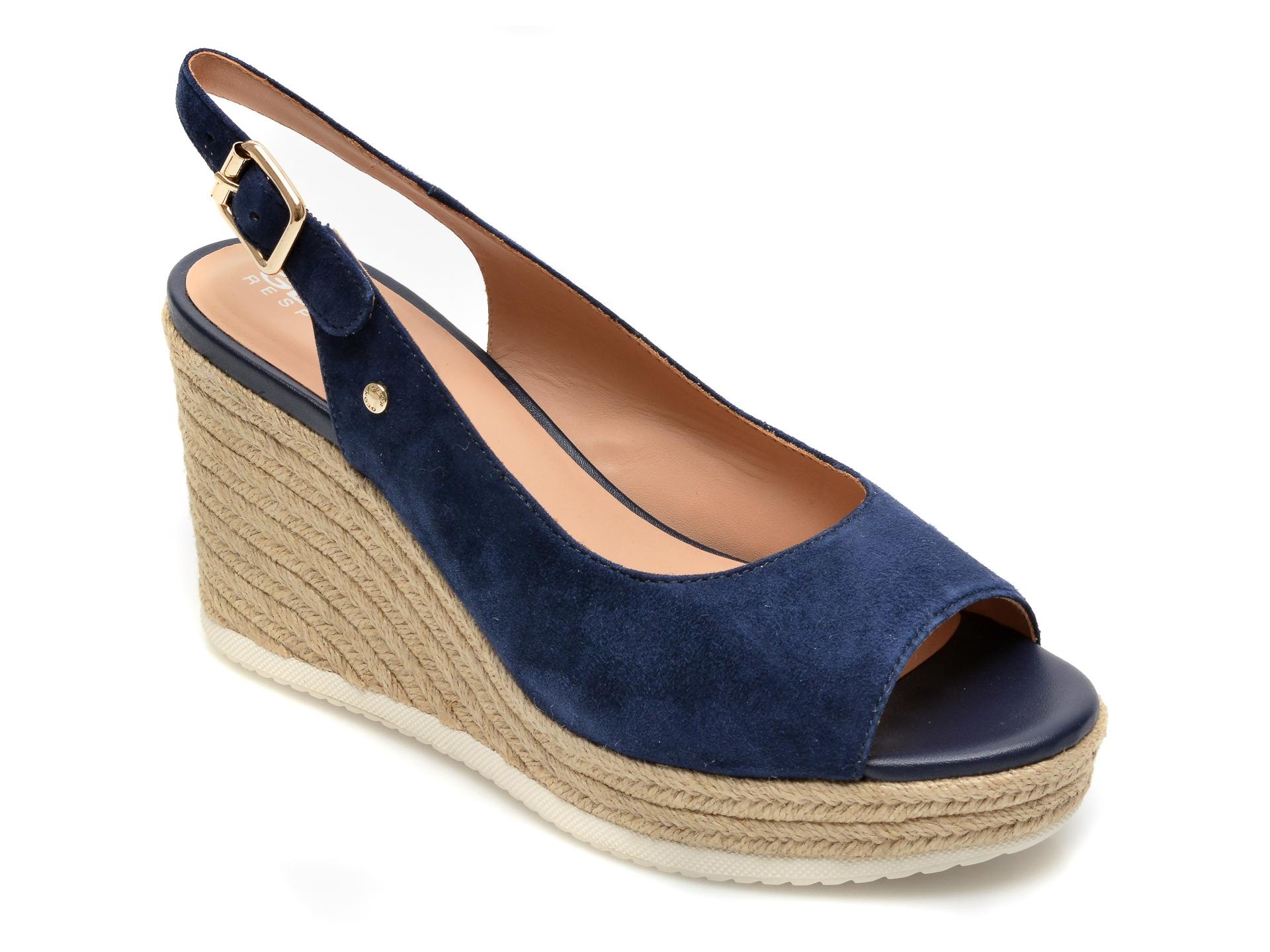 Sandale GEOX albastre, D02GVD, din piele intoarsa