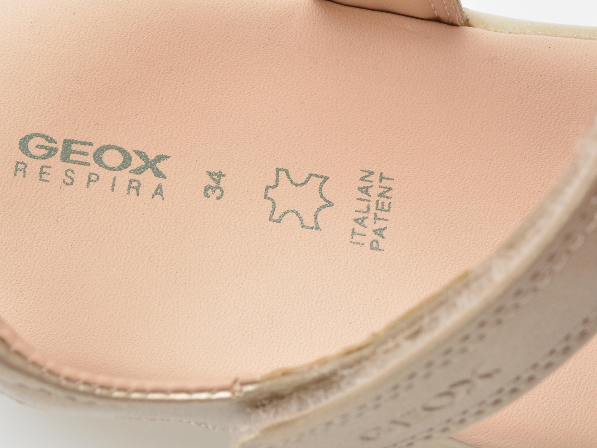 Sandale GEOX aurii, J028ZA, din piele naturala - 3