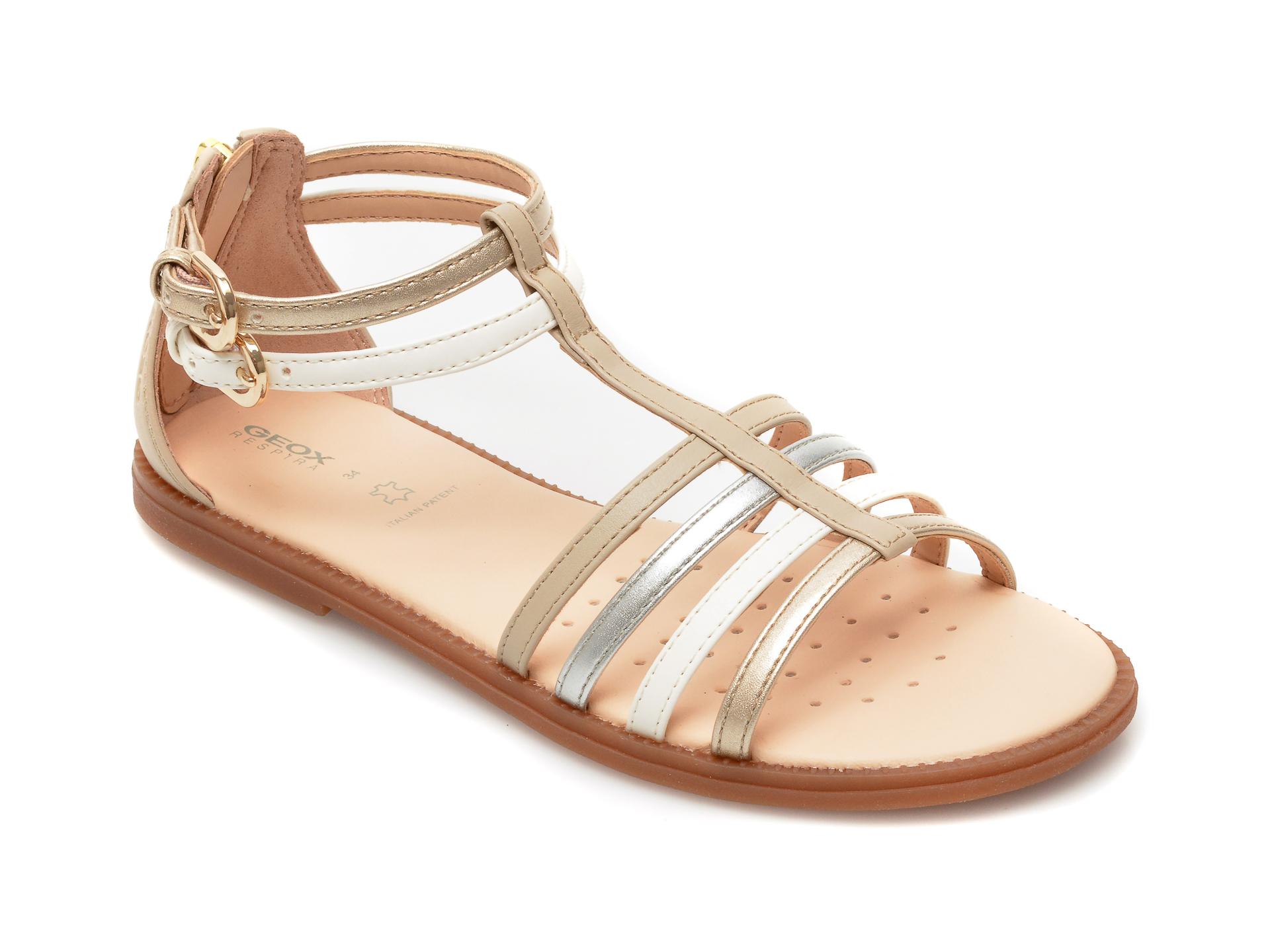 Sandale GEOX bej, J7235D, din piele ecologica