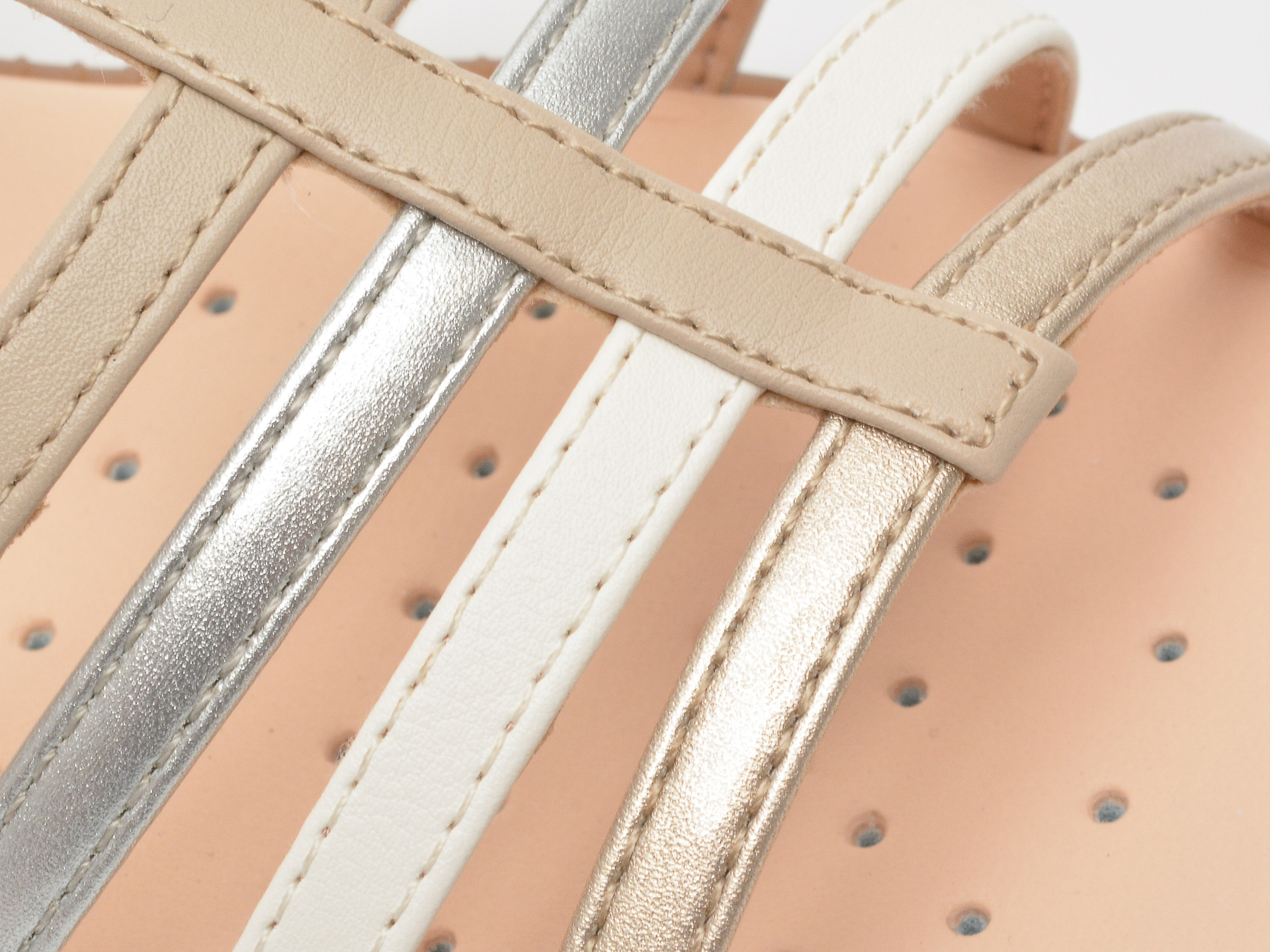 Sandale GEOX bej, J7235D, din piele ecologica - 2