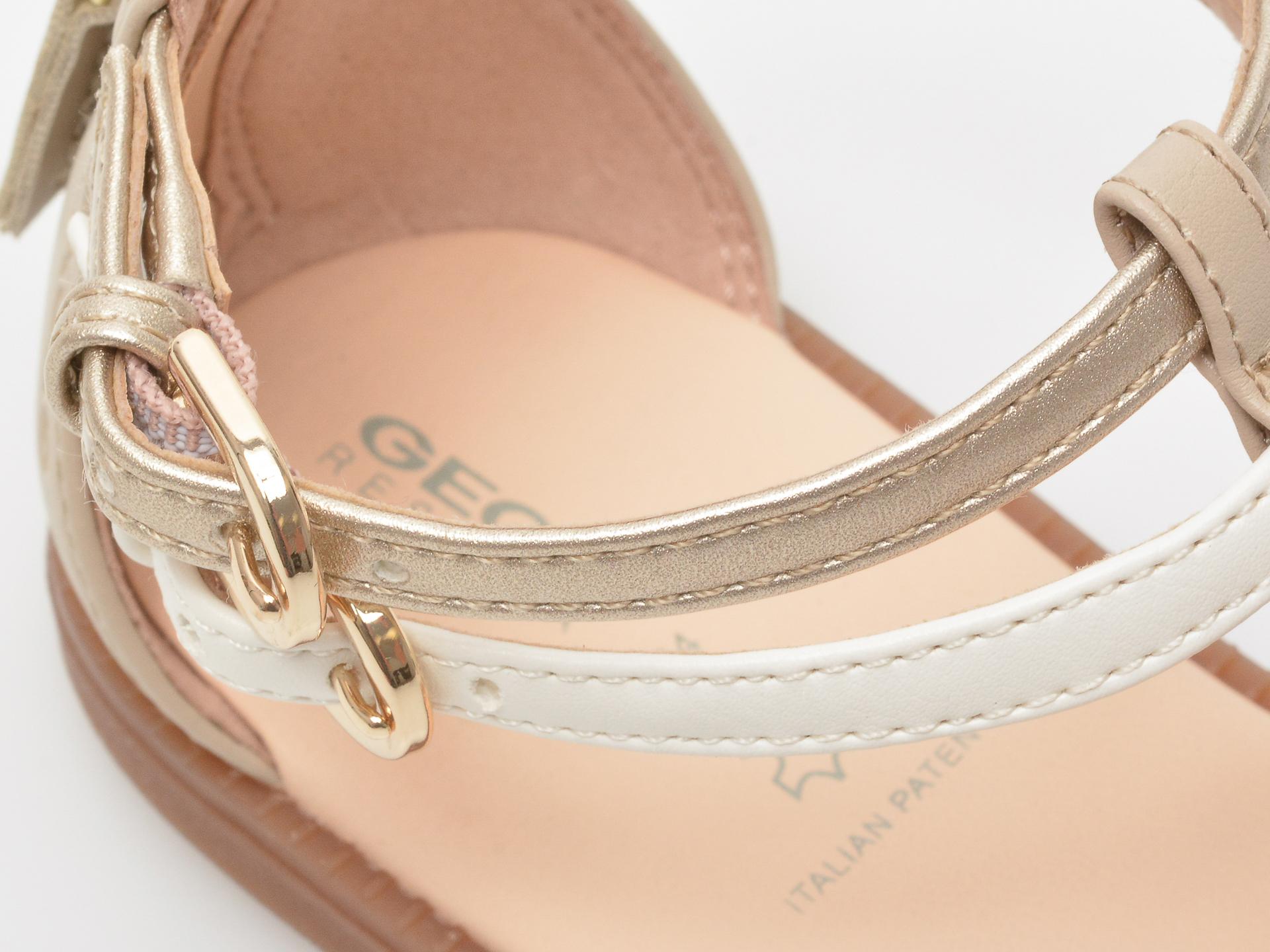 Sandale GEOX bej, J7235D, din piele ecologica - 3