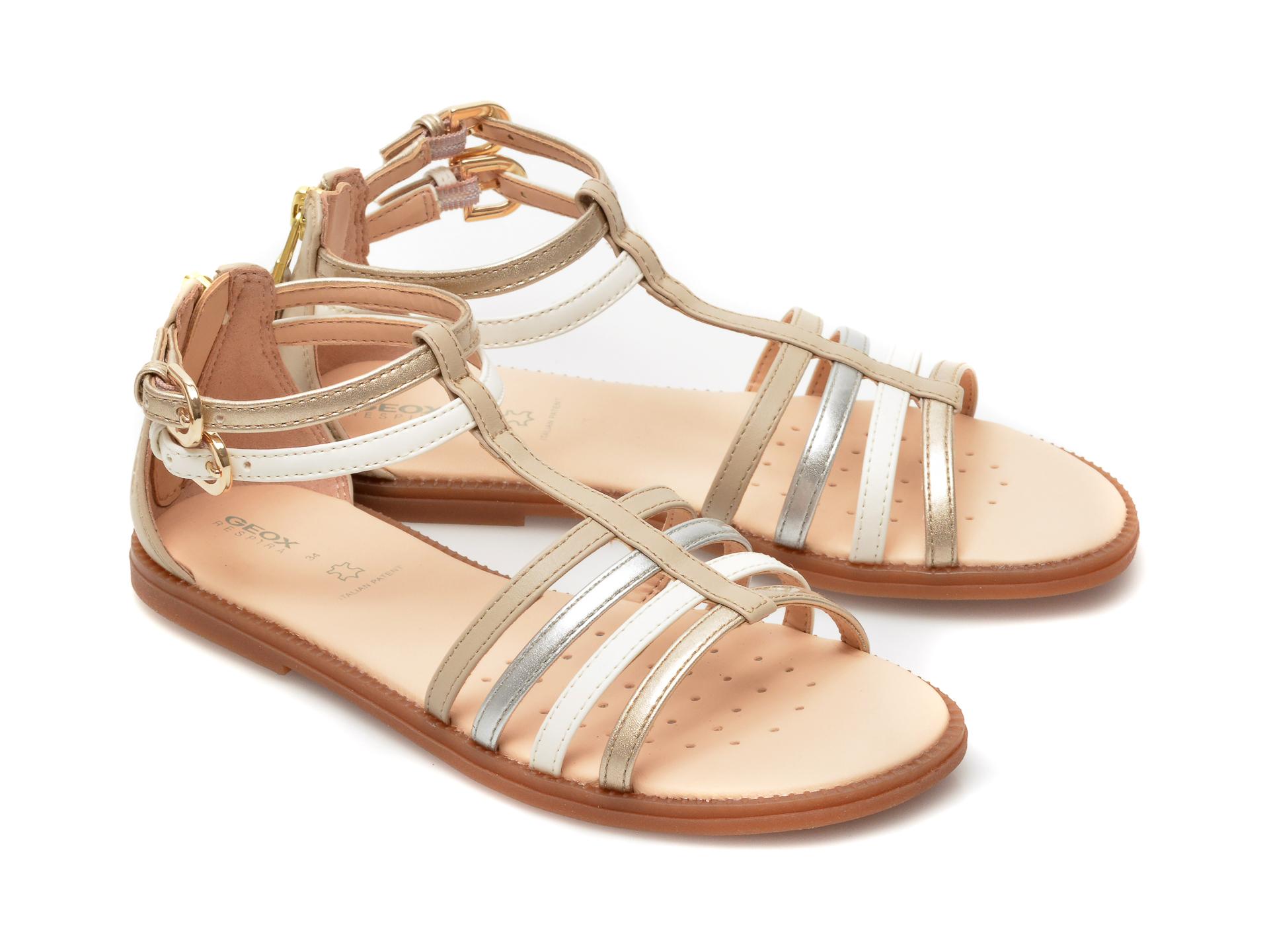 Sandale GEOX bej, J7235D, din piele ecologica - 4