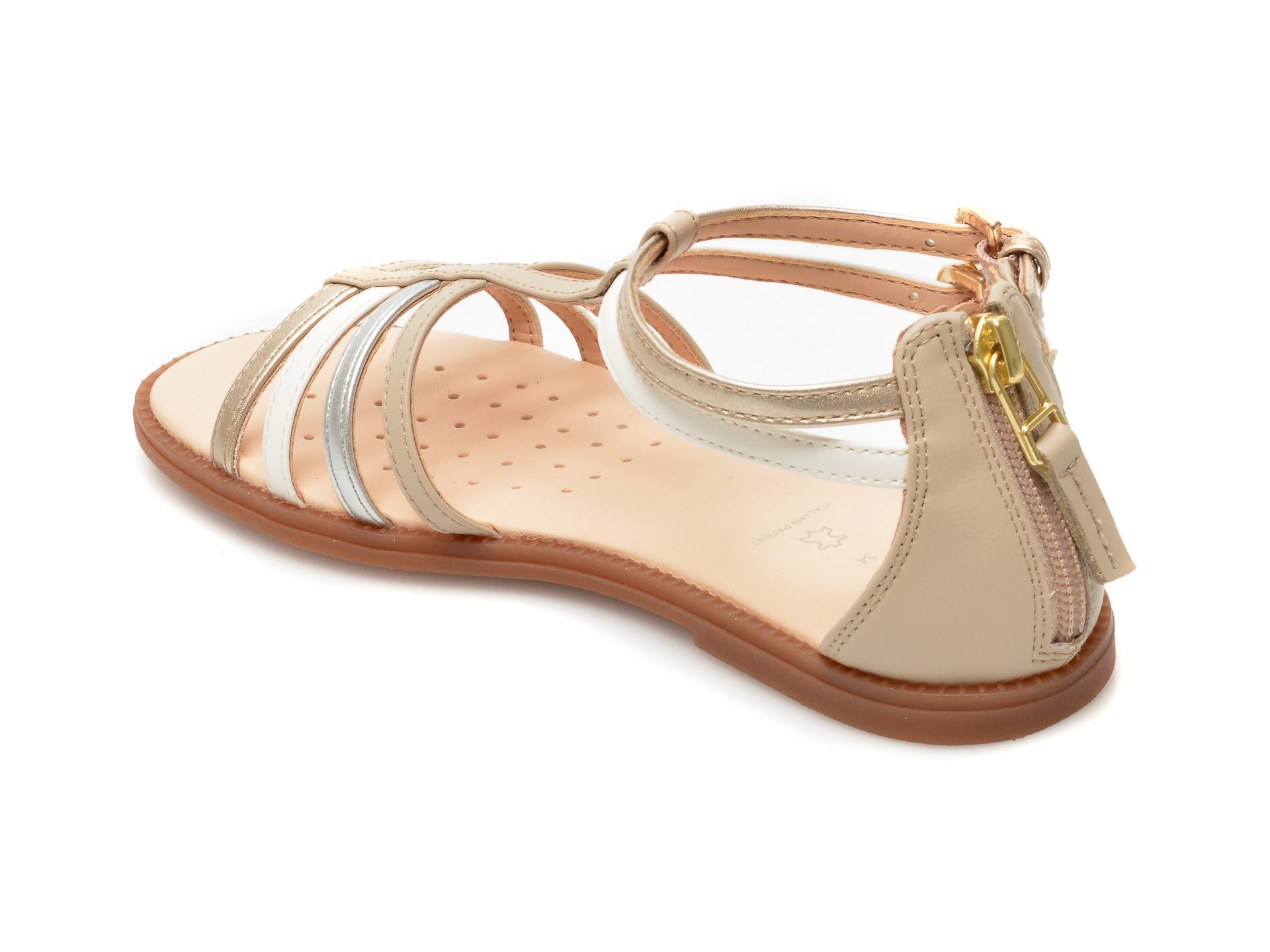 Sandale GEOX bej, J7235D, din piele ecologica - 5