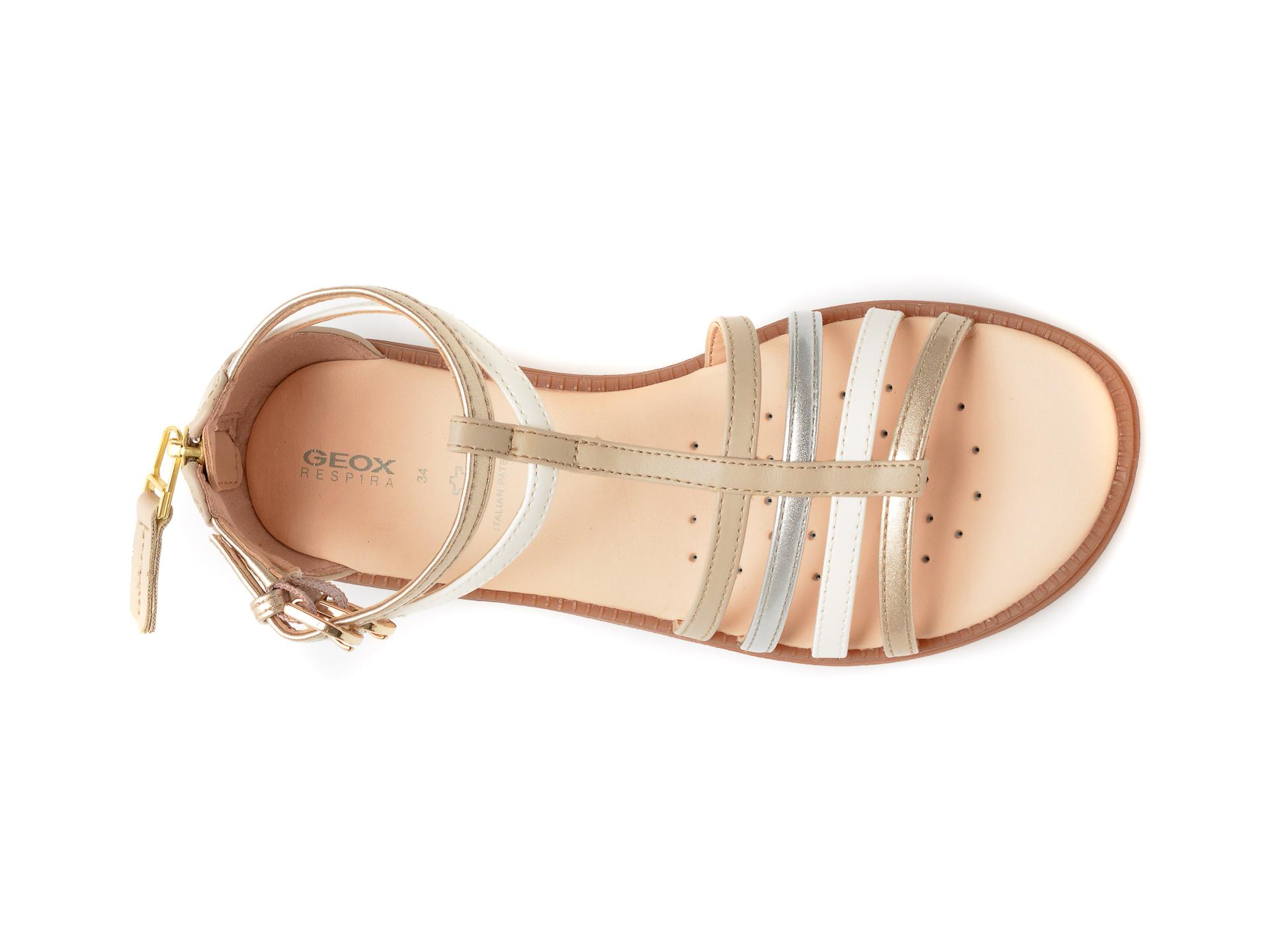Sandale GEOX bej, J7235D, din piele ecologica - 6