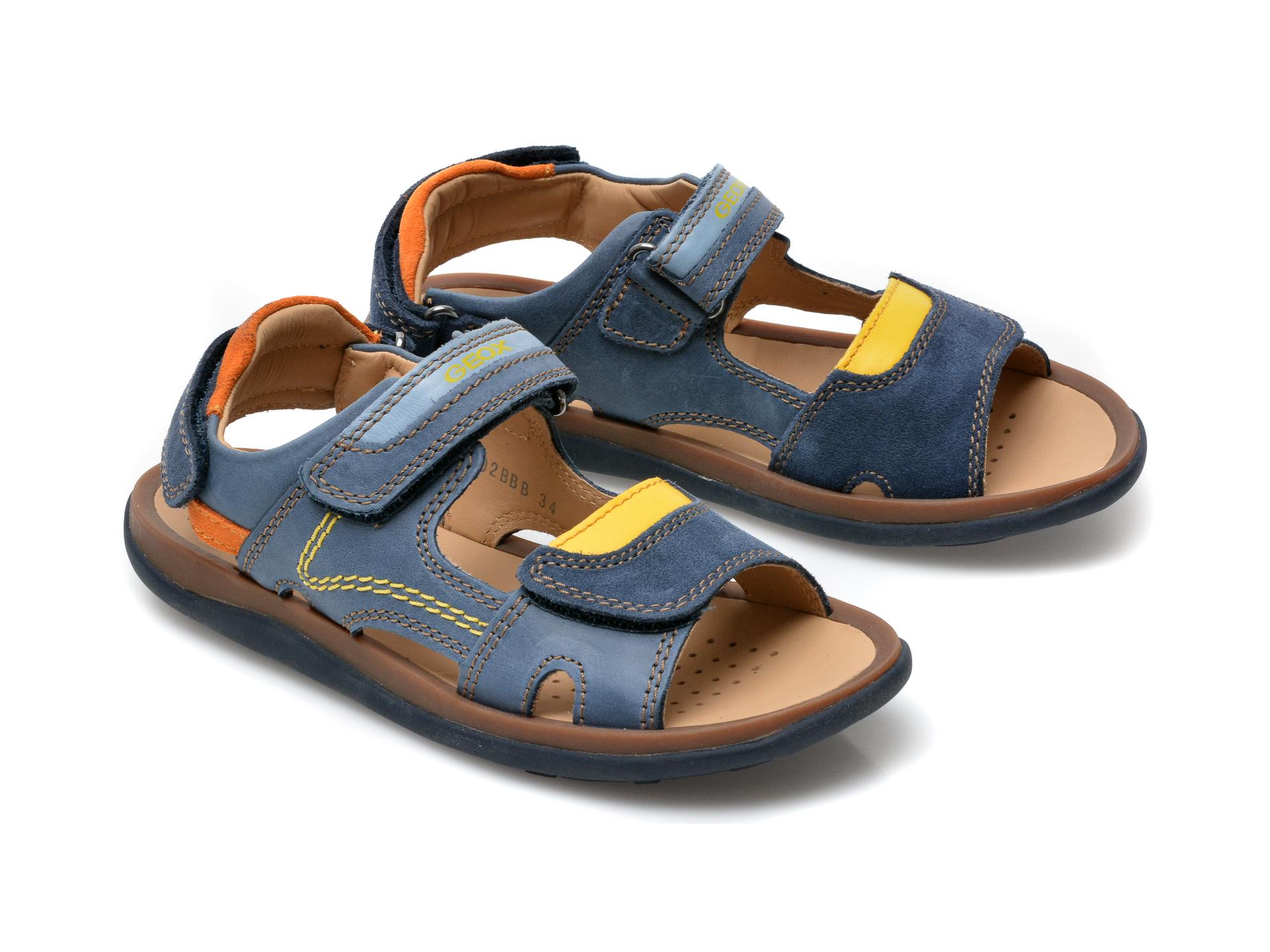 Sandale GEOX bleumarin, J02BBB, din piele naturala - 4