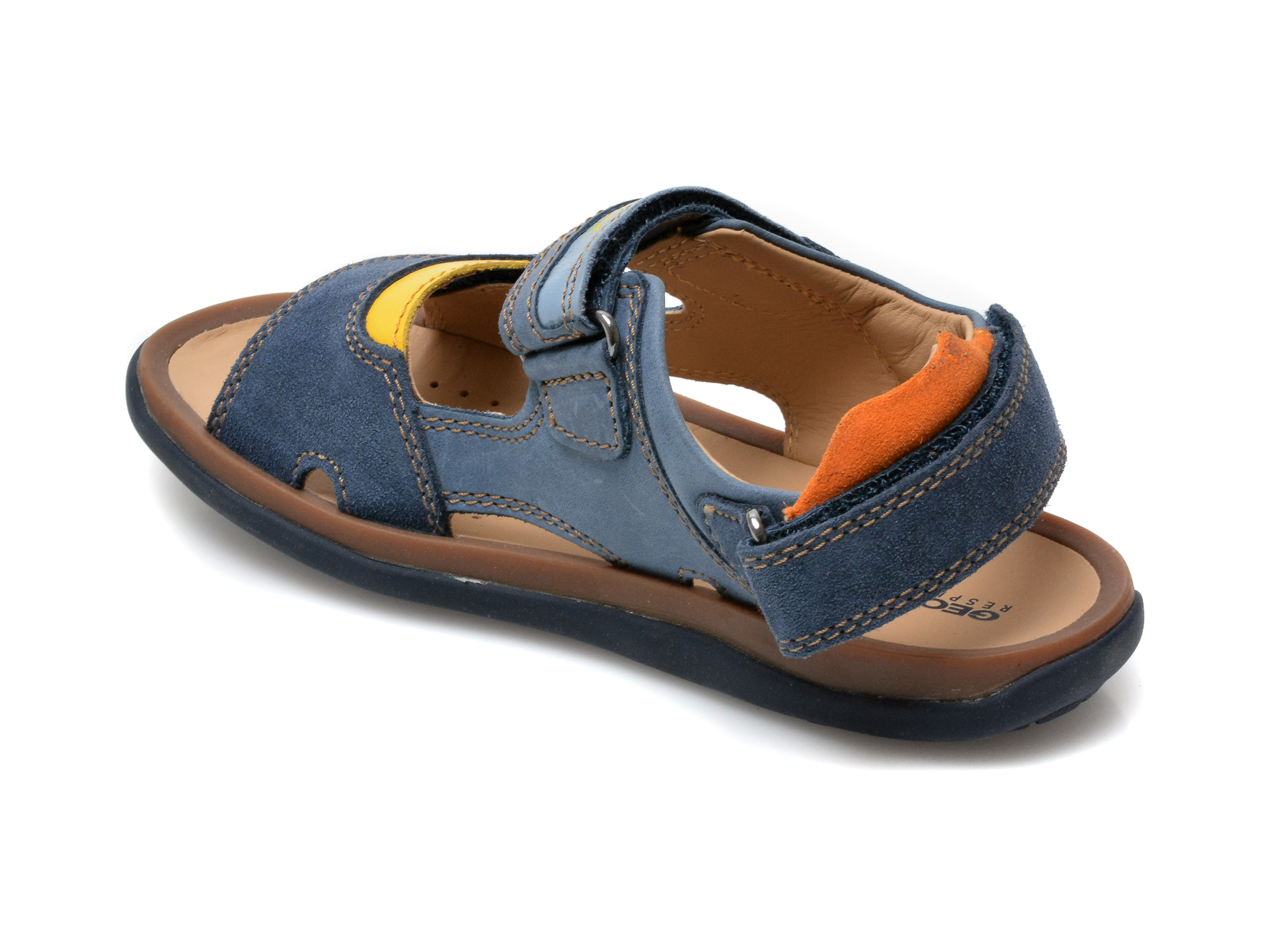 Sandale GEOX bleumarin, J02BBB, din piele naturala - 5