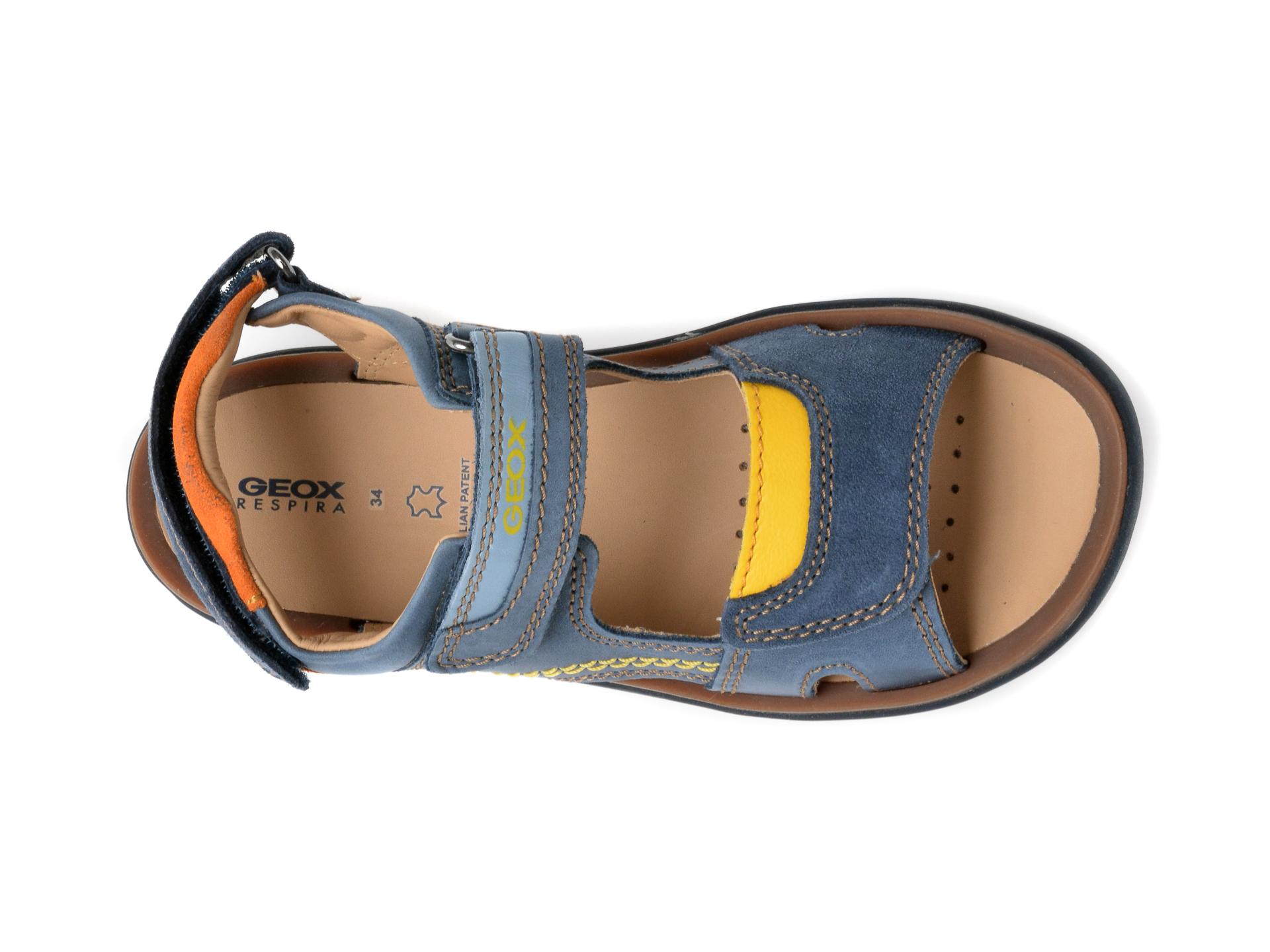 Sandale GEOX bleumarin, J02BBB, din piele naturala - 6