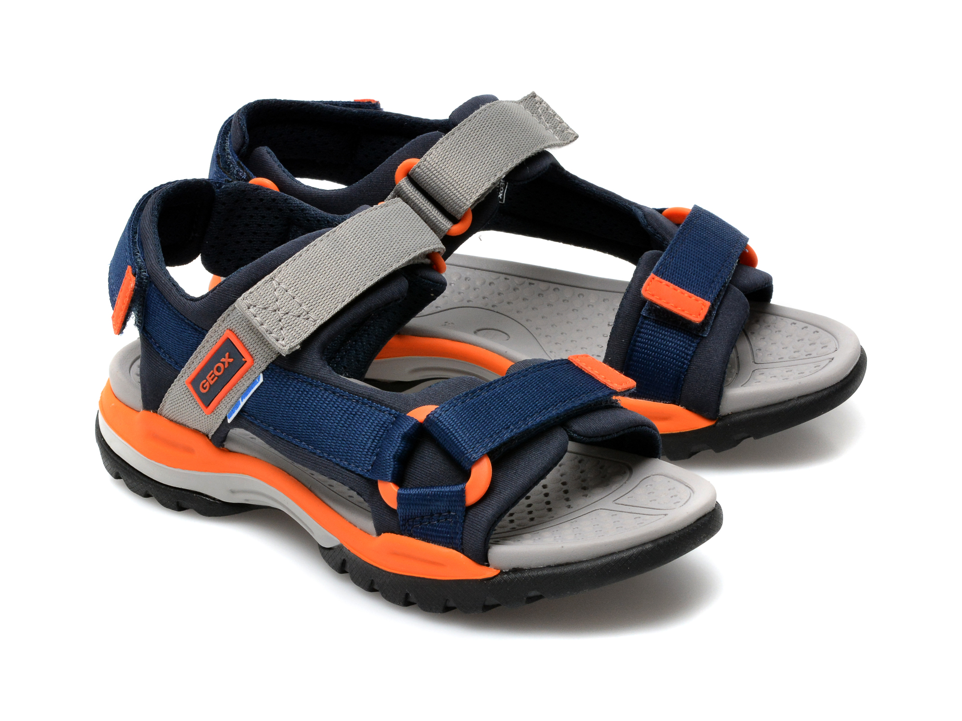 Sandale GEOX bleumarin, J150RA, din material textil - 4
