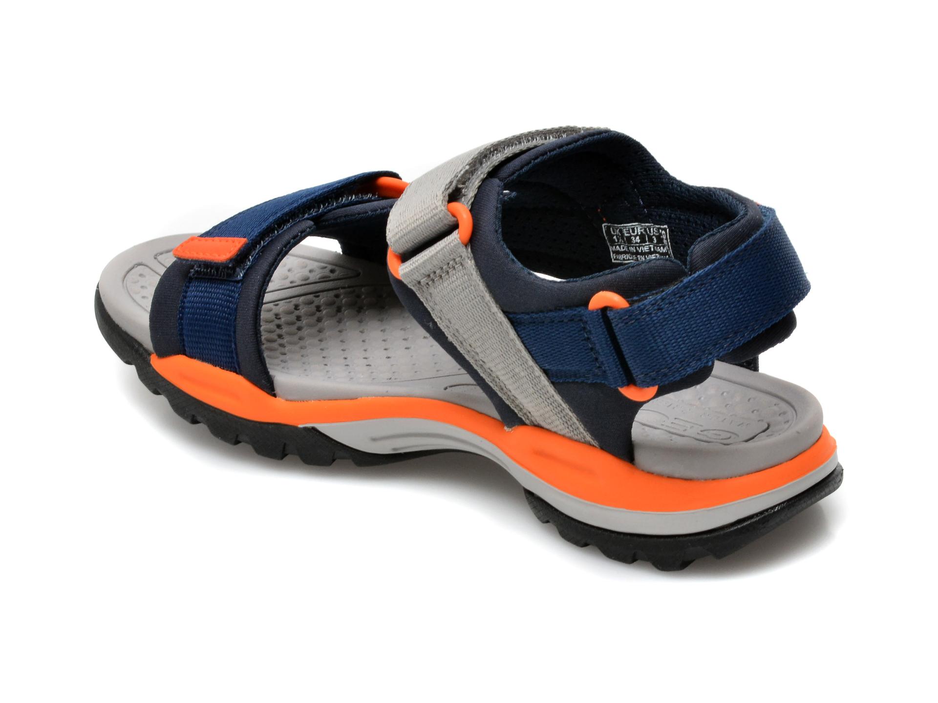 Sandale GEOX bleumarin, J150RA, din material textil - 5