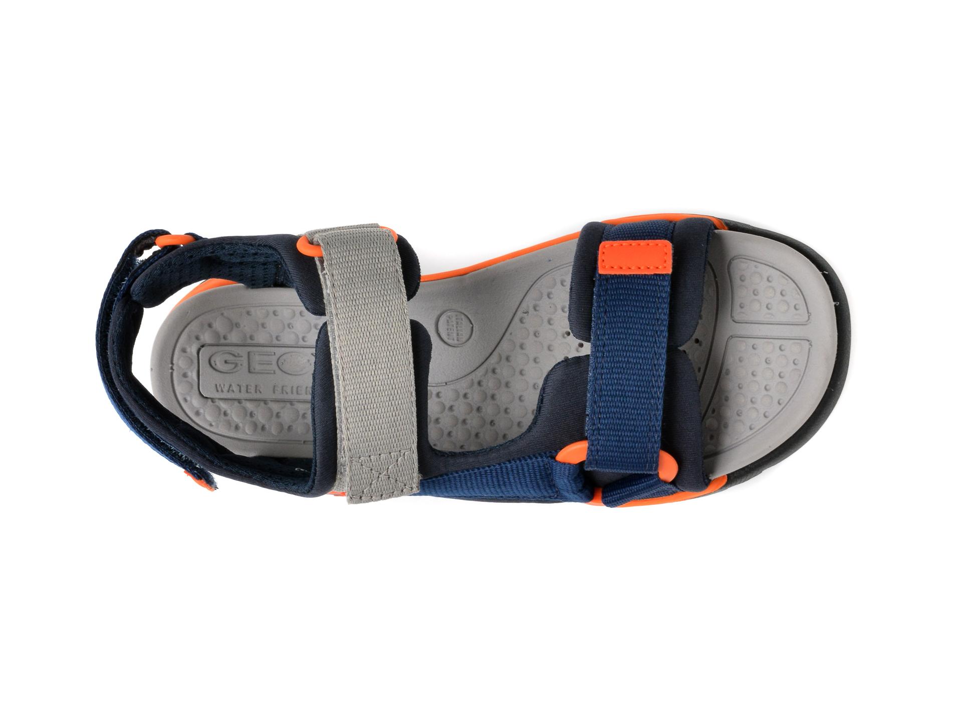 Sandale GEOX bleumarin, J150RA, din material textil - 6