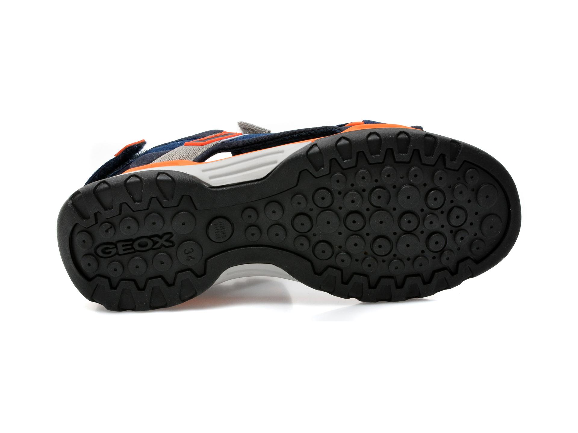 Sandale GEOX bleumarin, J150RA, din material textil - 7