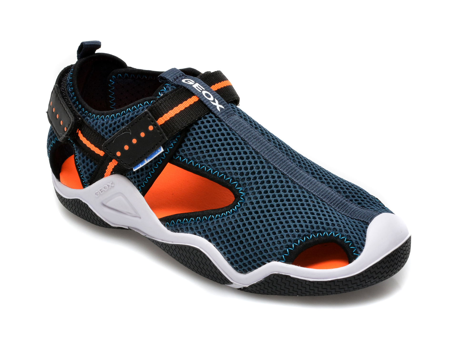 Sandale GEOX bleumarin, J1530A, din material textil