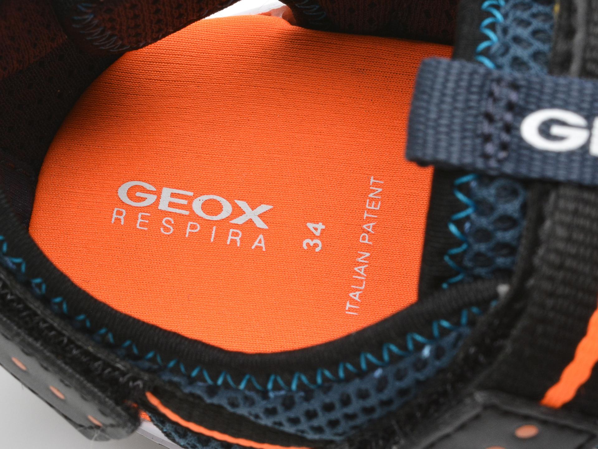 Sandale GEOX bleumarin, J1530A, din material textil - 3