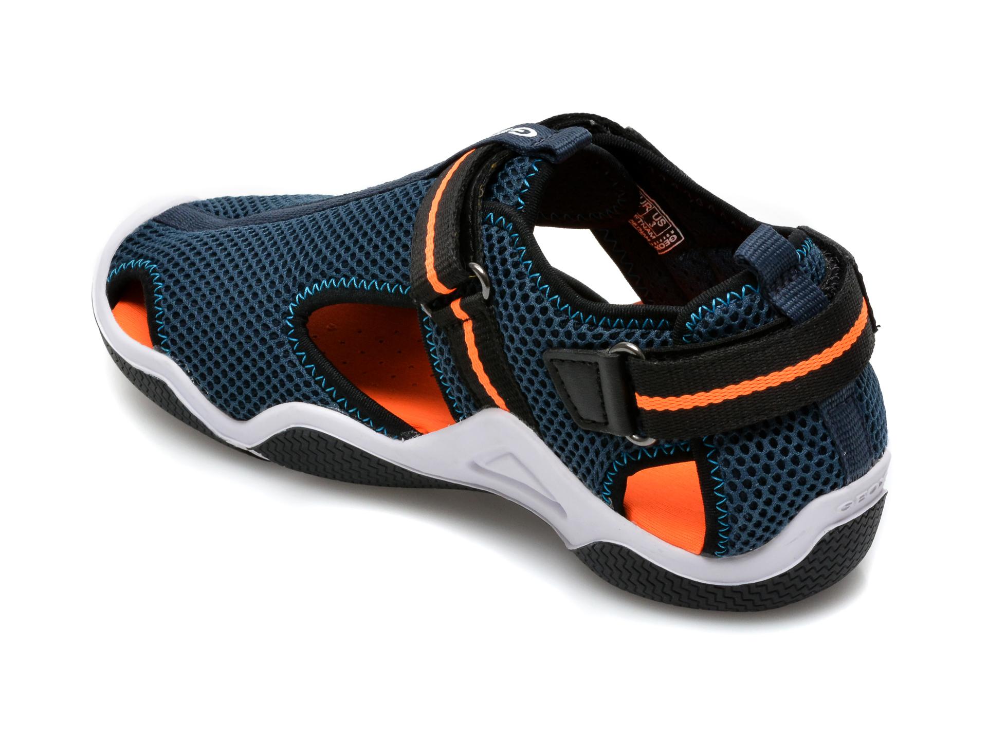 Sandale GEOX bleumarin, J1530A, din material textil - 5