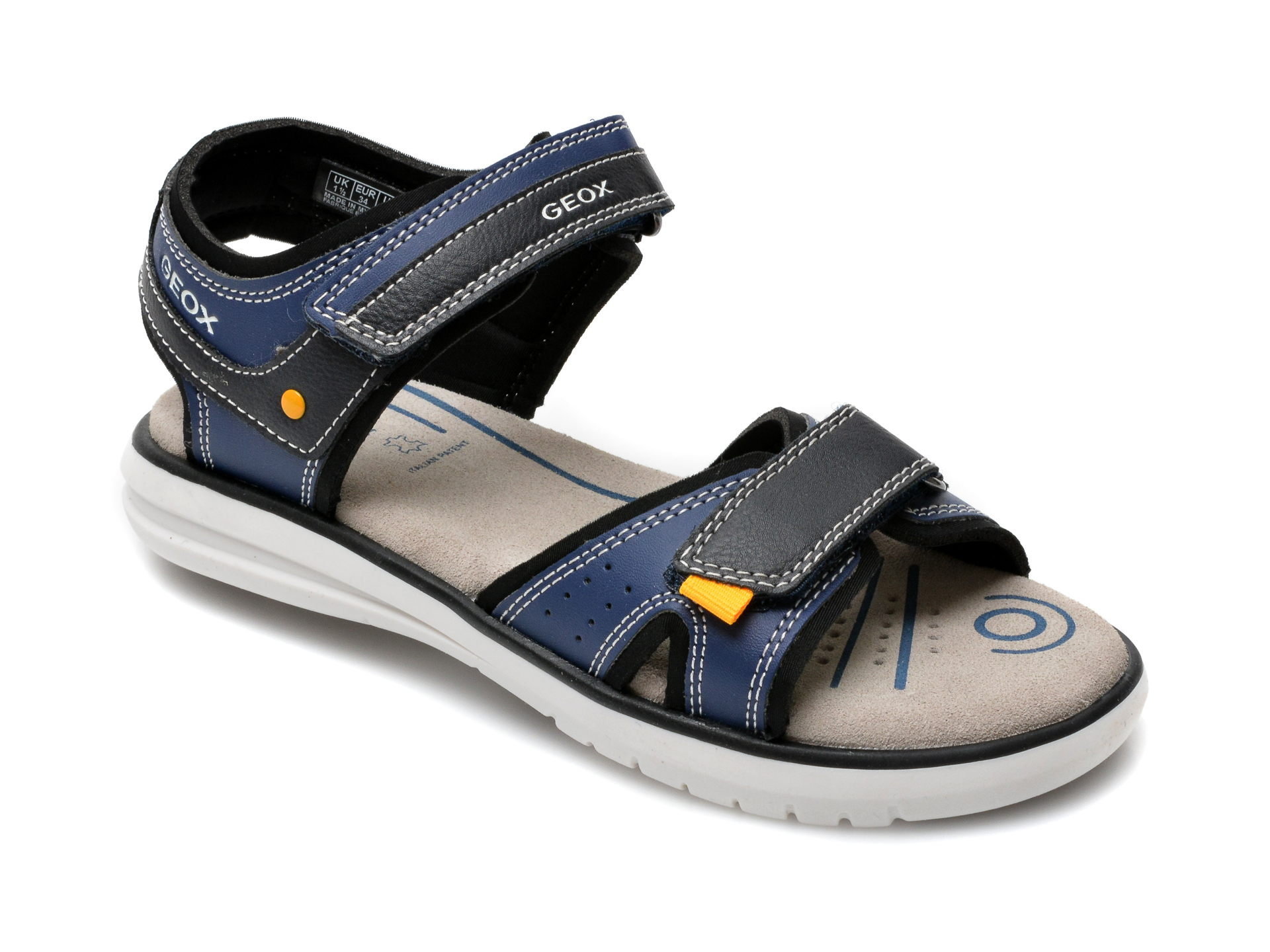 Sandale GEOX bleumarin, J15DRA, din piele ecologica
