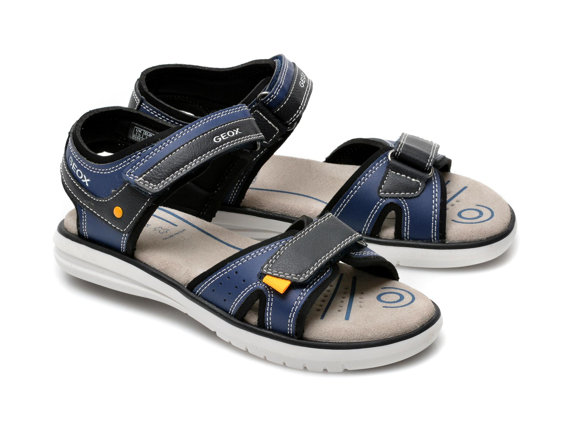 Sandale GEOX bleumarin, J15DRA, din piele ecologica - 4