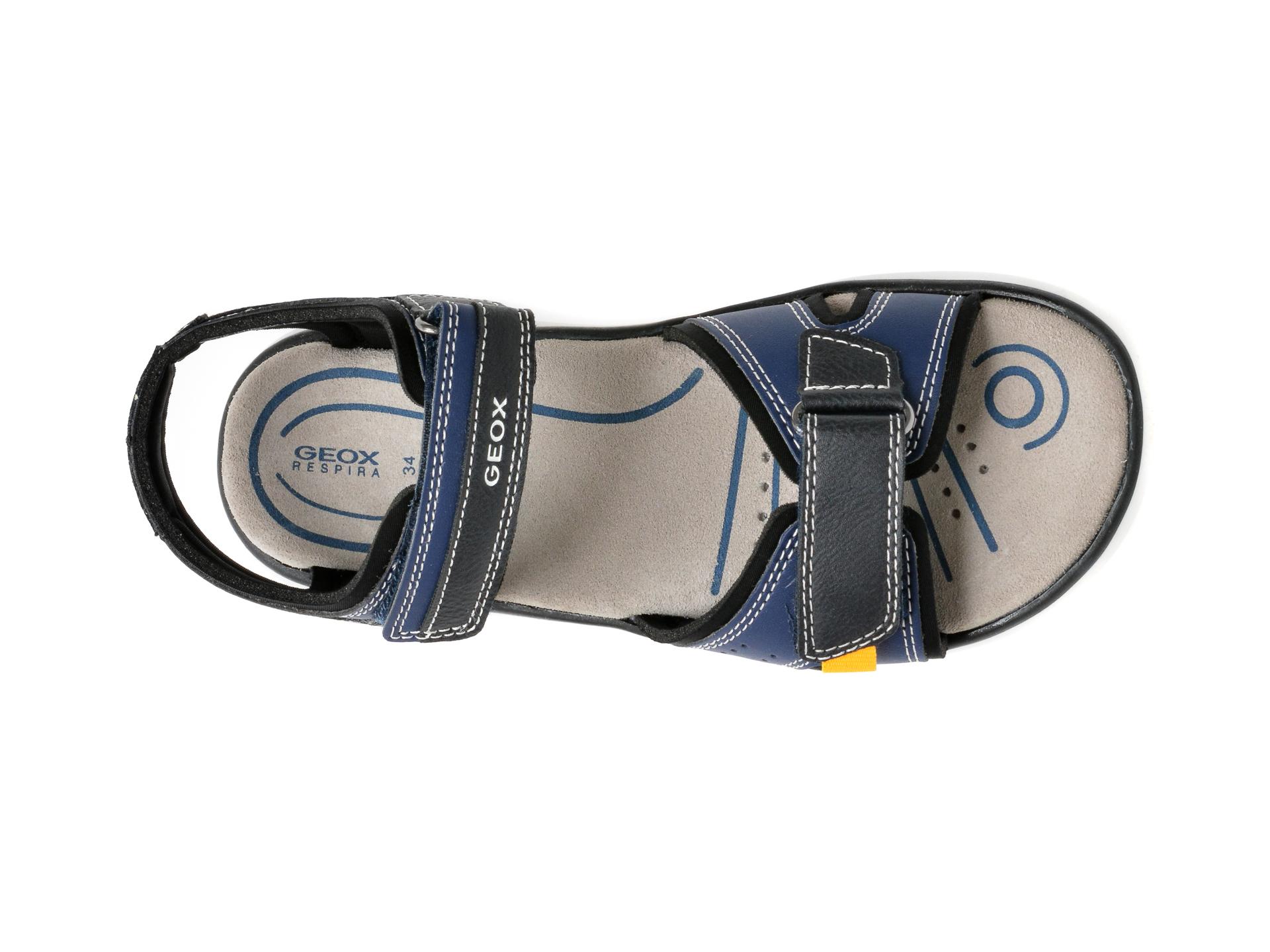 Sandale GEOX bleumarin, J15DRA, din piele ecologica - 6