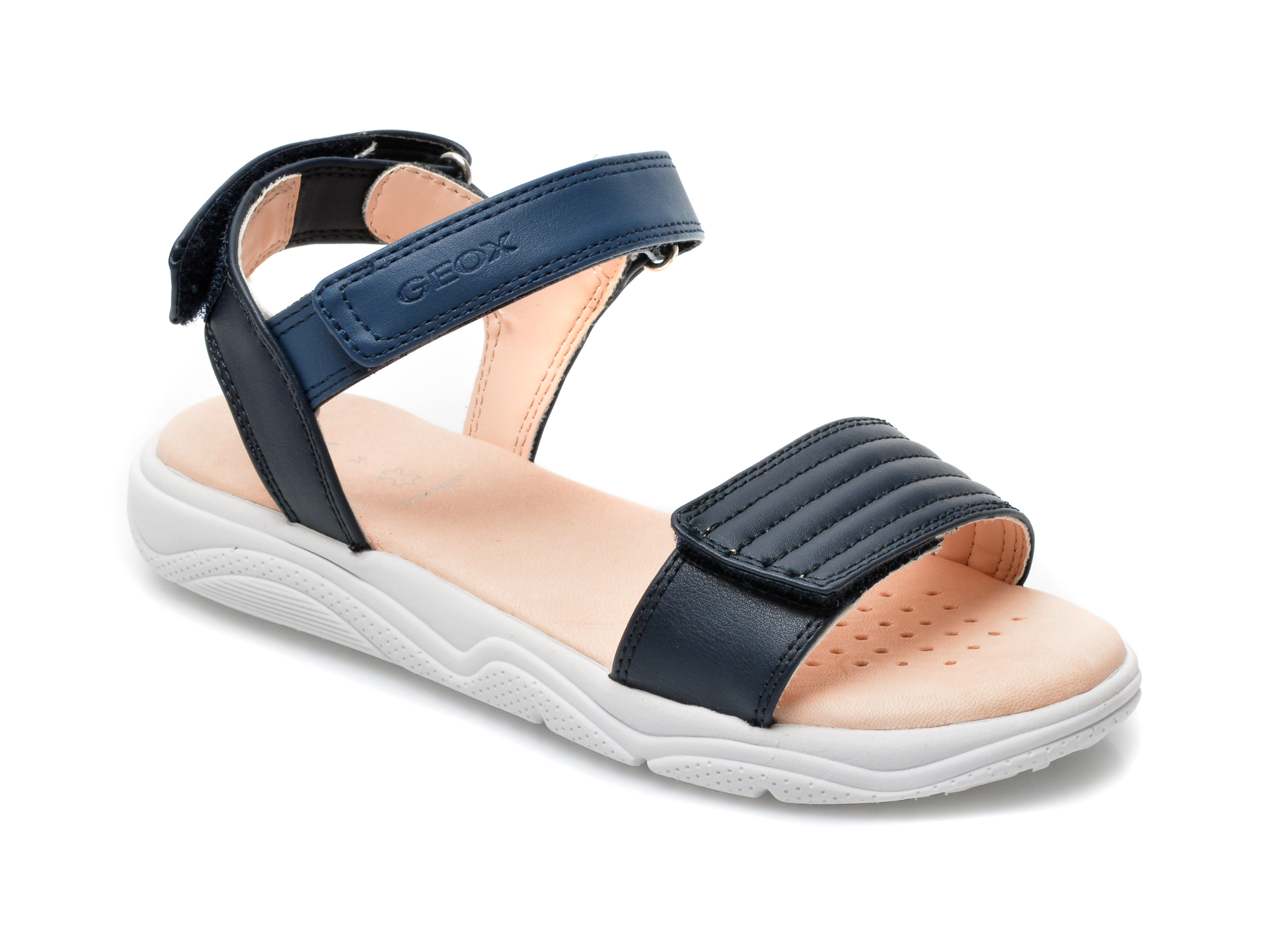 Sandale GEOX bleumarin, J15DUJ, din piele ecologica