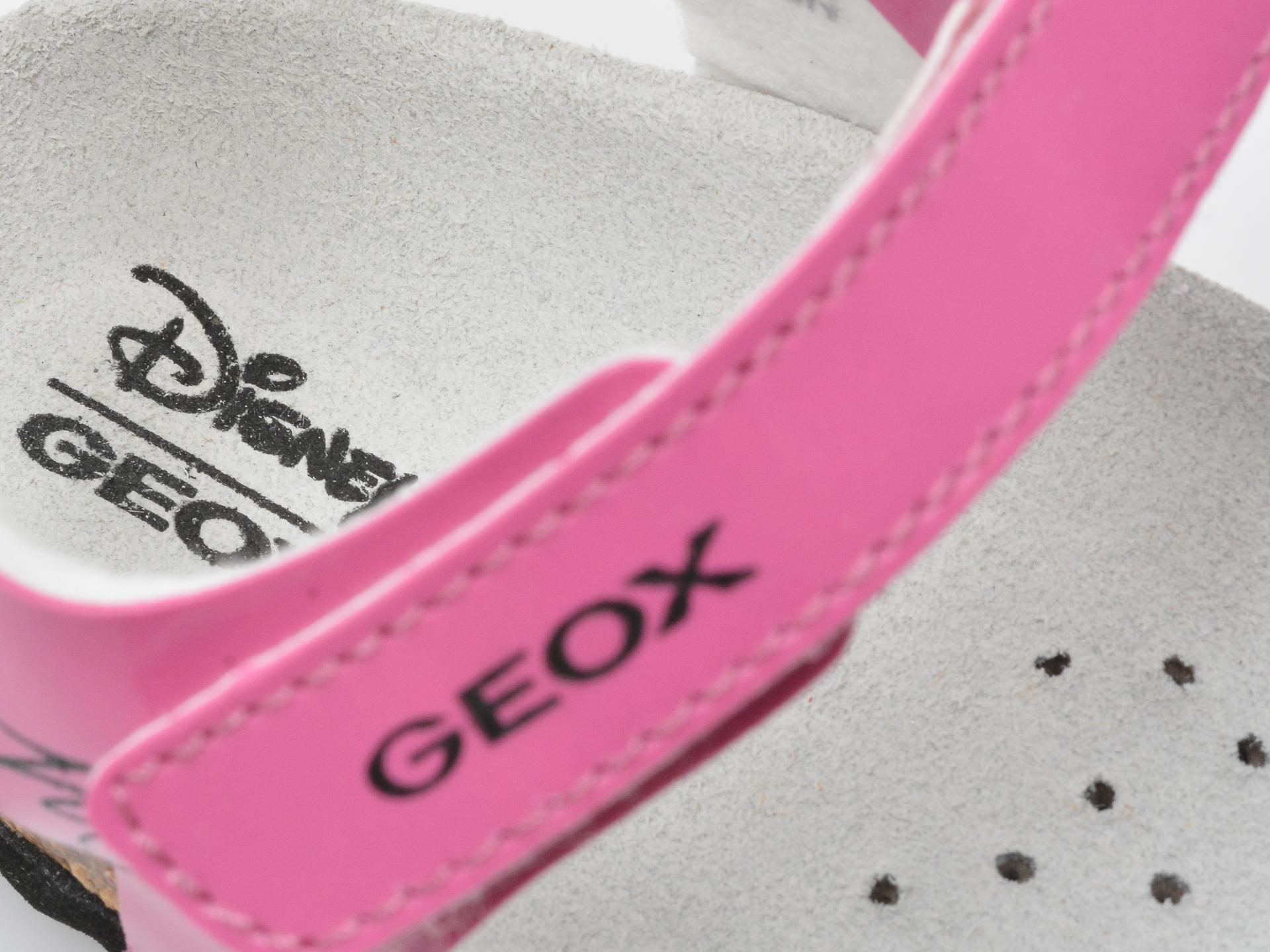 Sandale GEOX fucsia, B152RD, din piele ecologica - 3