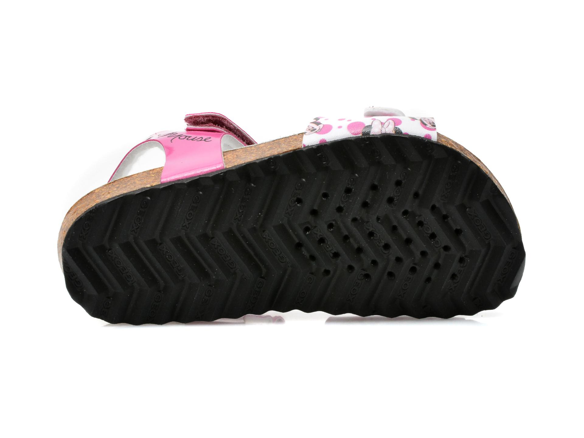 Sandale GEOX fucsia, B152RD, din piele ecologica - 7